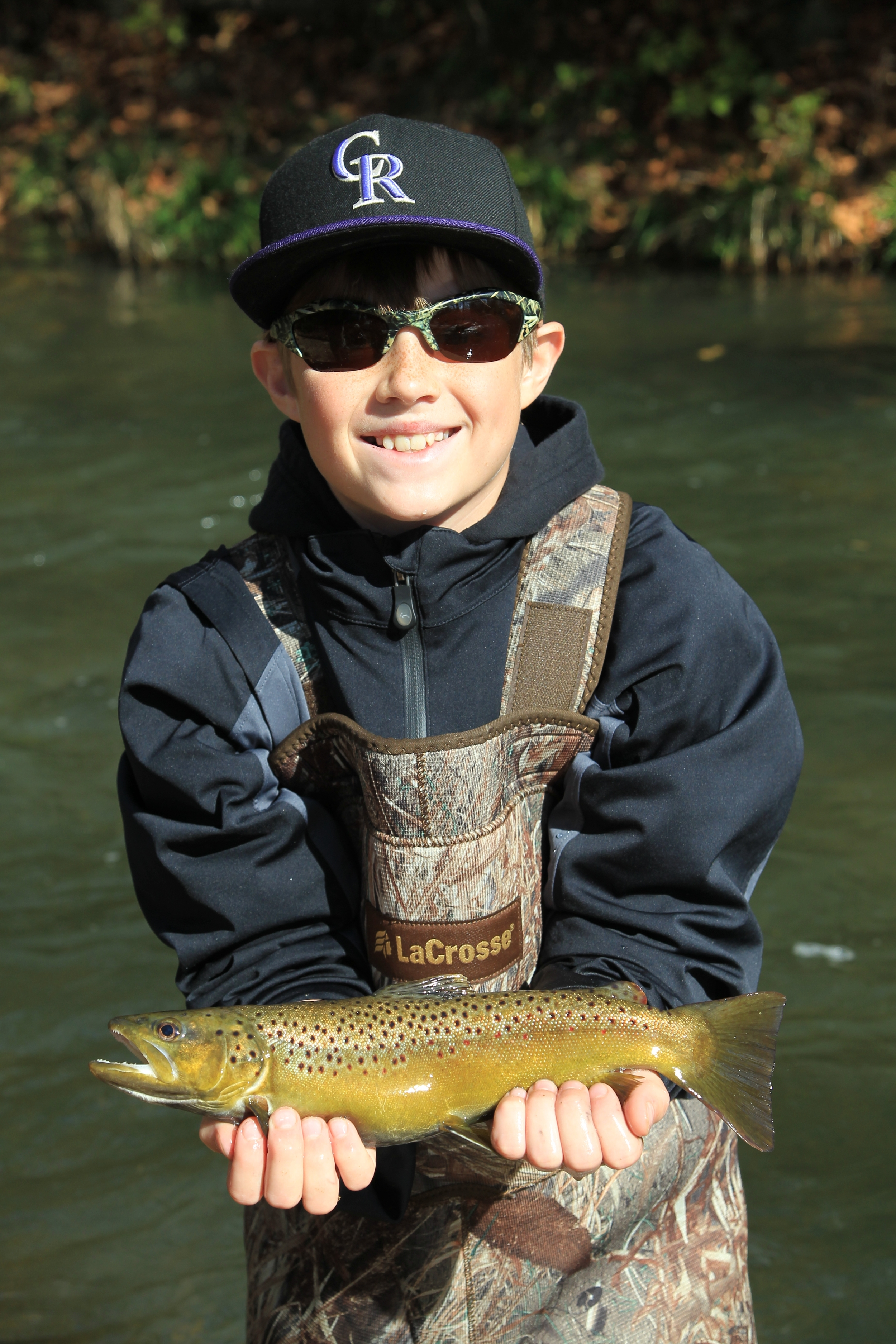 Kids get in on the trout fishing fun at Dry Run Creek on the Norfork River, which is strictly catch-and-release.