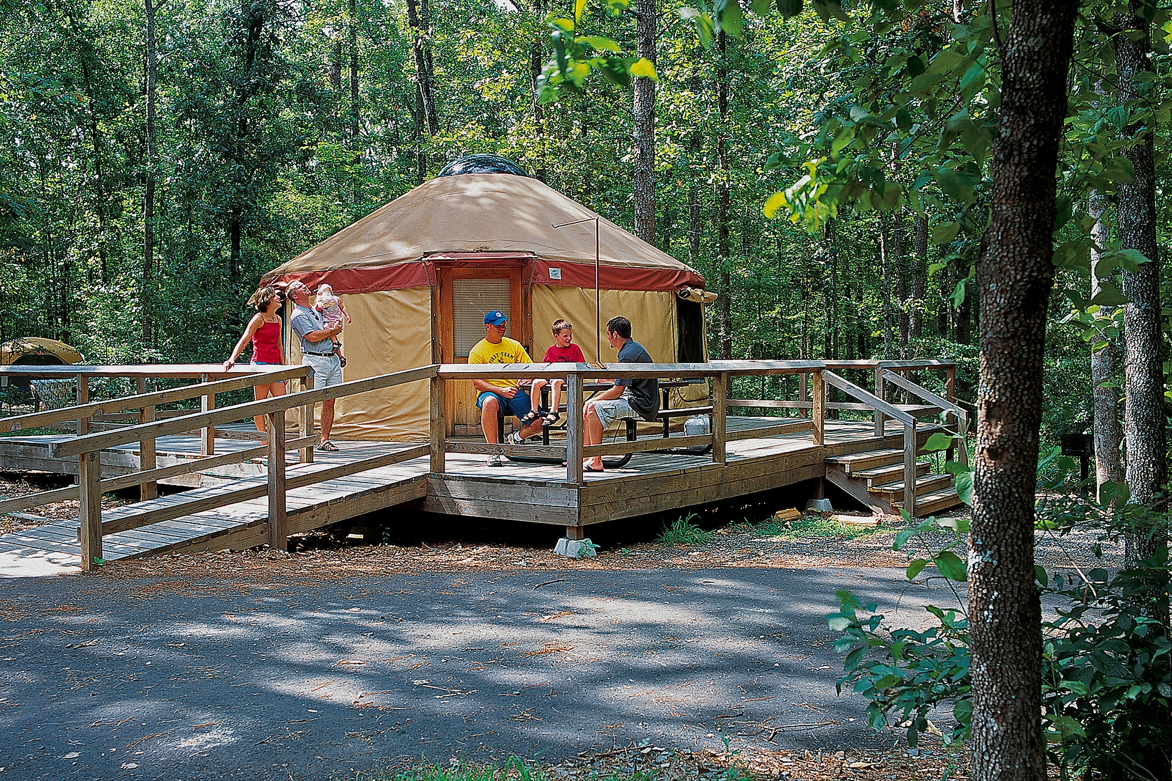 Yurts at DeGray State Park make for roughing it in style.