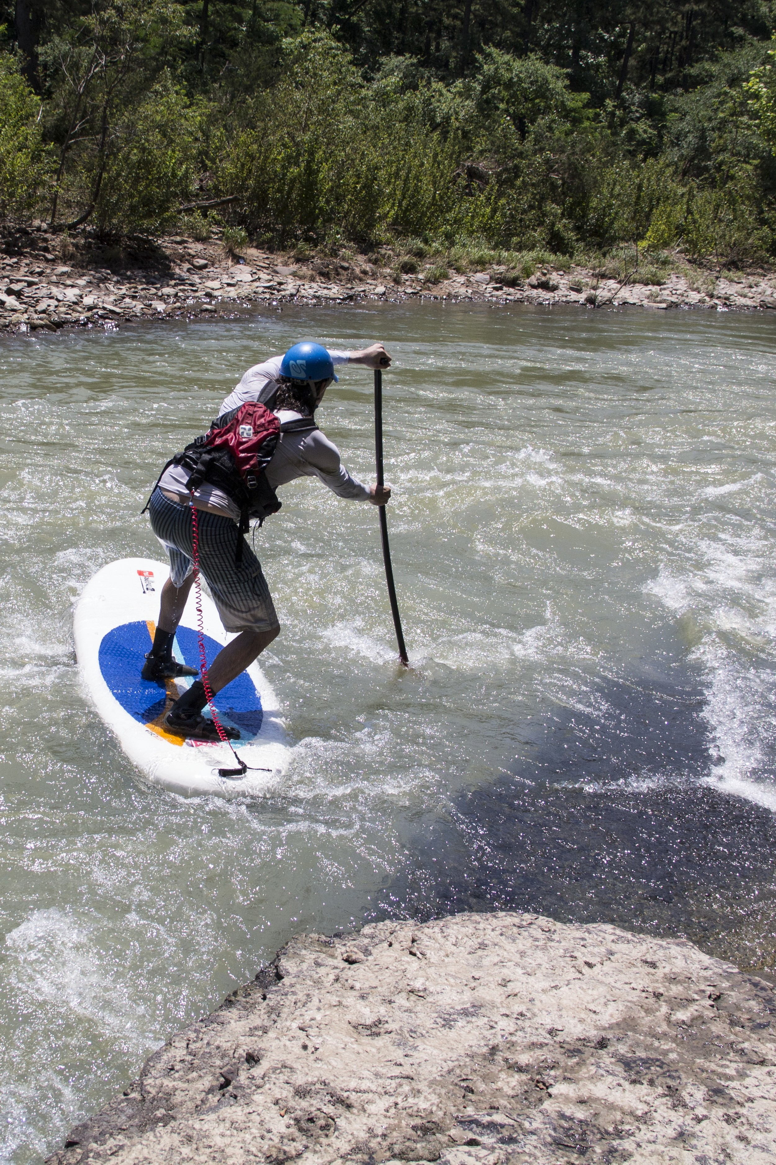 Standing above the rush of water on a SUP is a unique perspective.