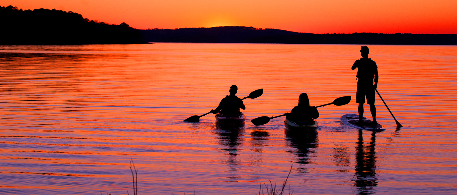 A stunning sunset on the Islets Cove Paddle Trail at DeGray State Park near Bismarck.