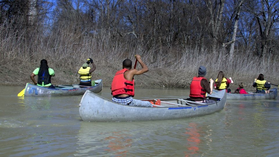 Volunteers participate in the Friends of the Sunflower annual cleanup on the Mississippi River.