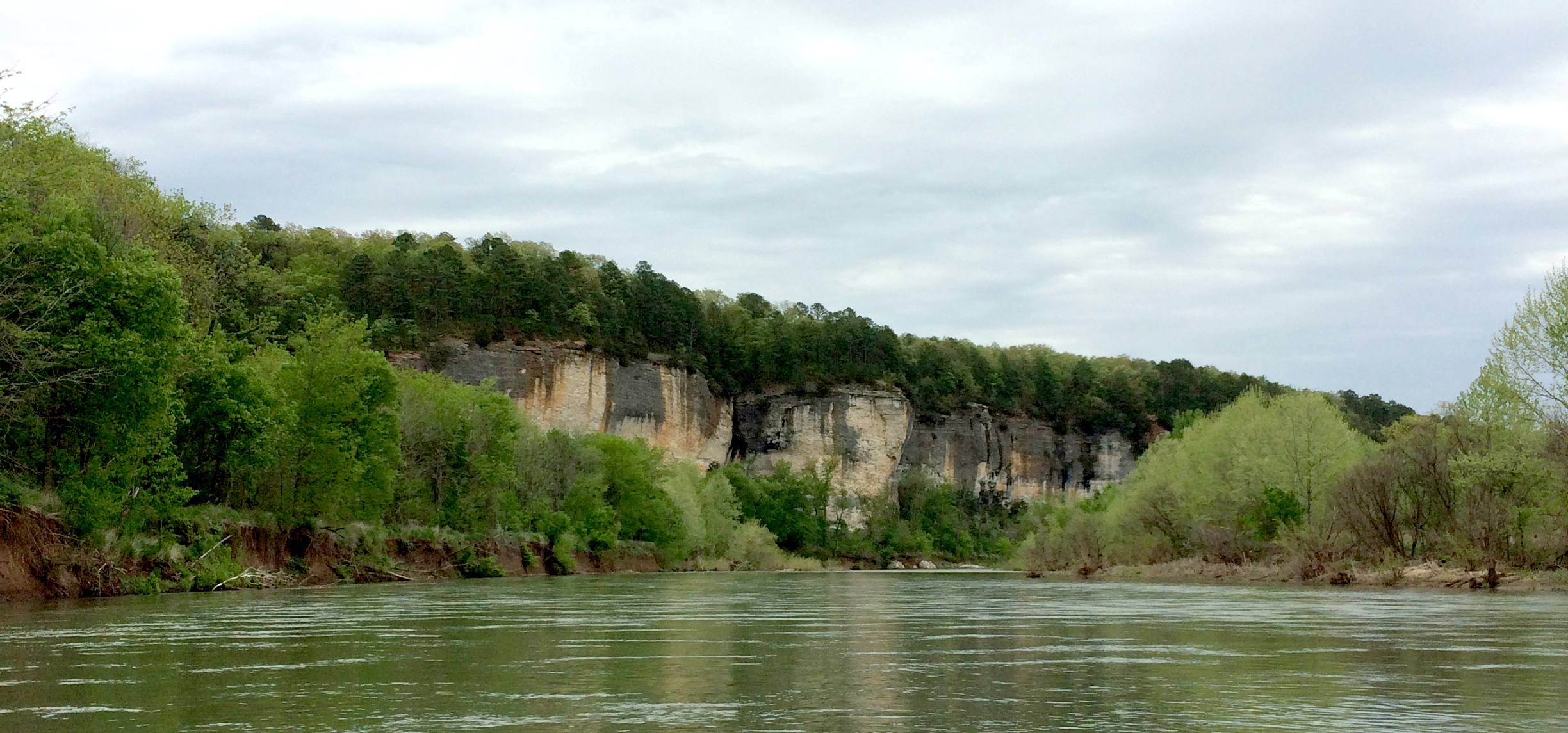 Tall, majestic cliffs and lush green foliage are the hallmarks of the Buffalo National River.
