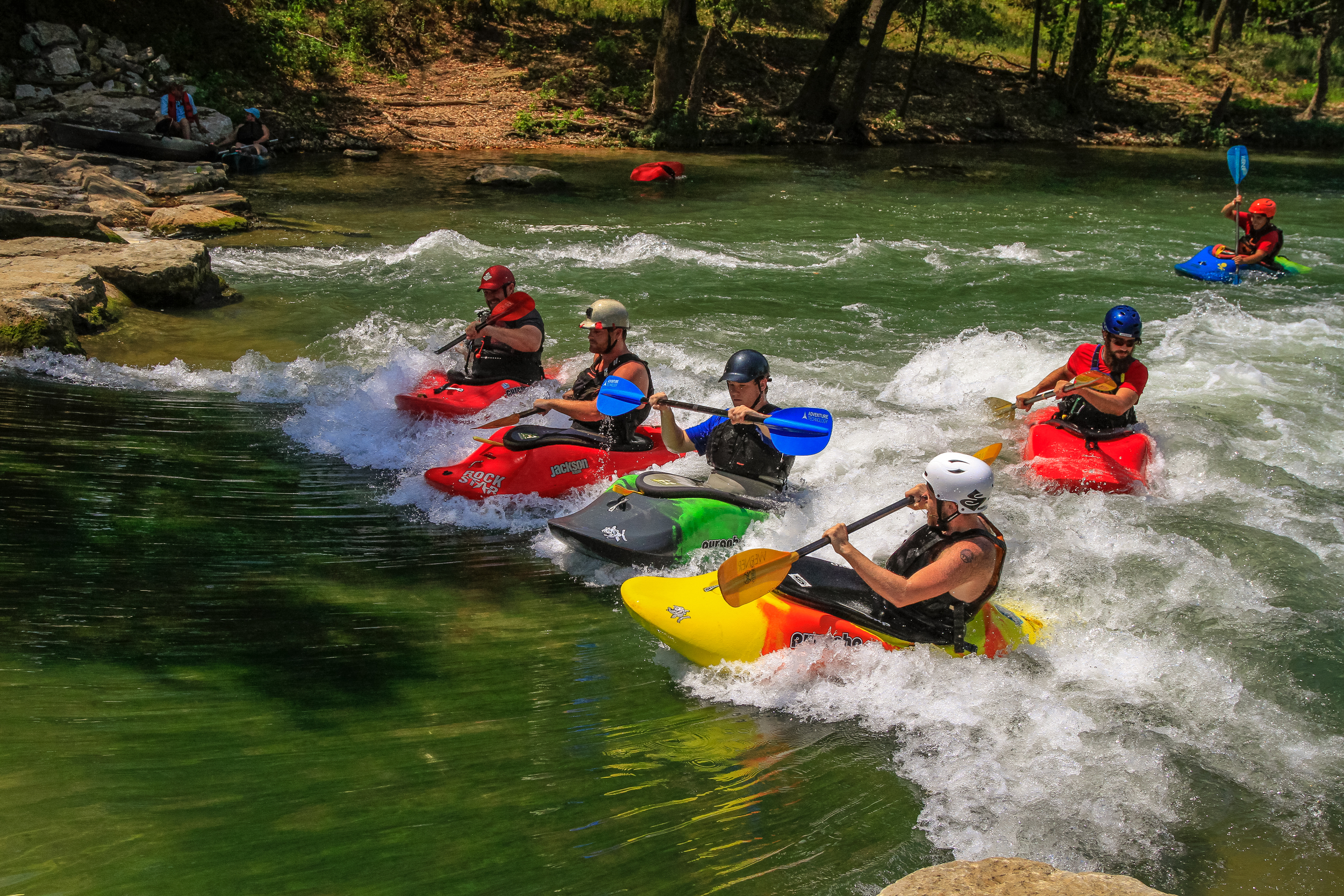 The Siloam Springs Kayak Park is whitewater fun for kayakers and canoeists of all skill levels.