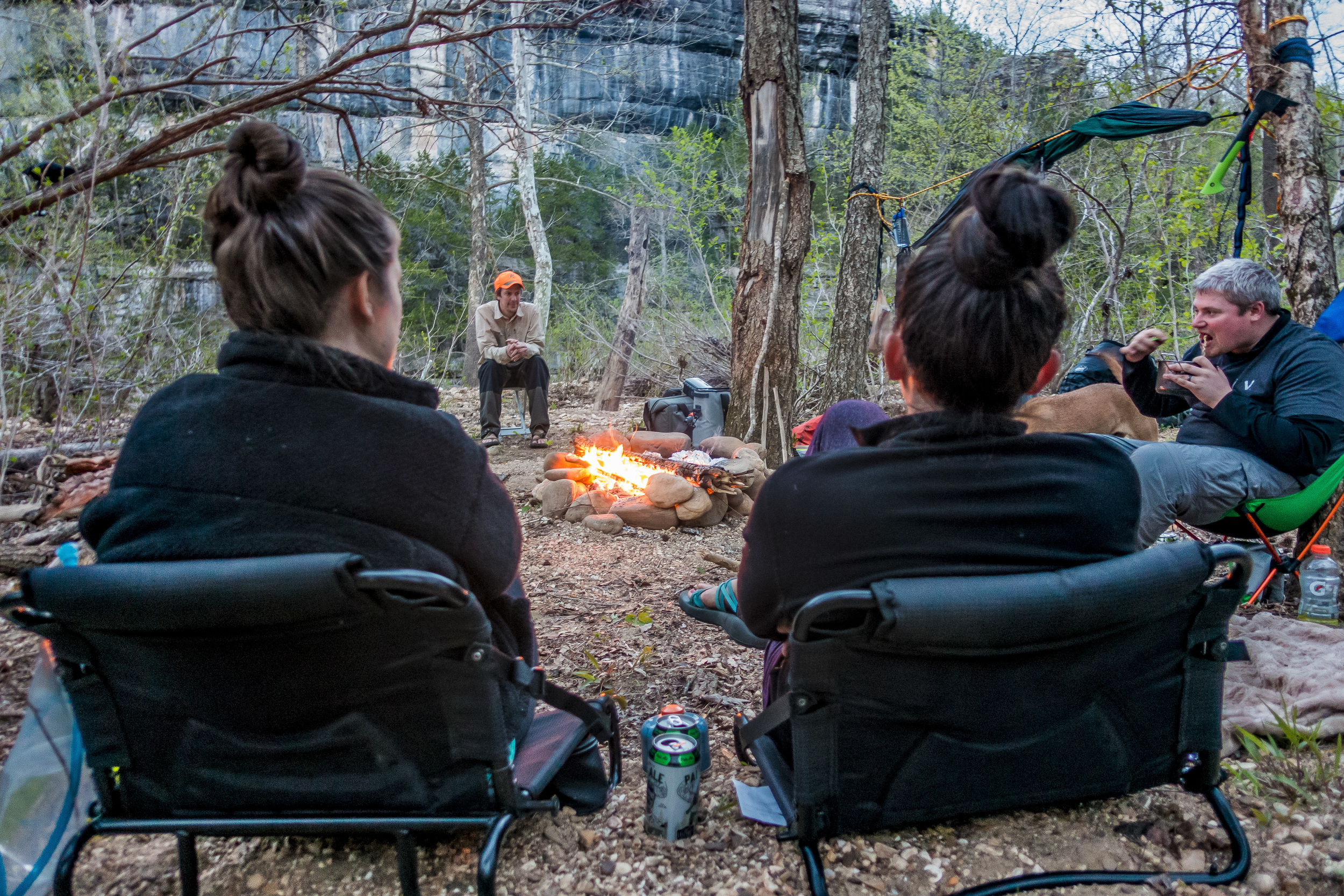 The Kyles Landing campground offers rustic camping along the Buffalo River Trail.