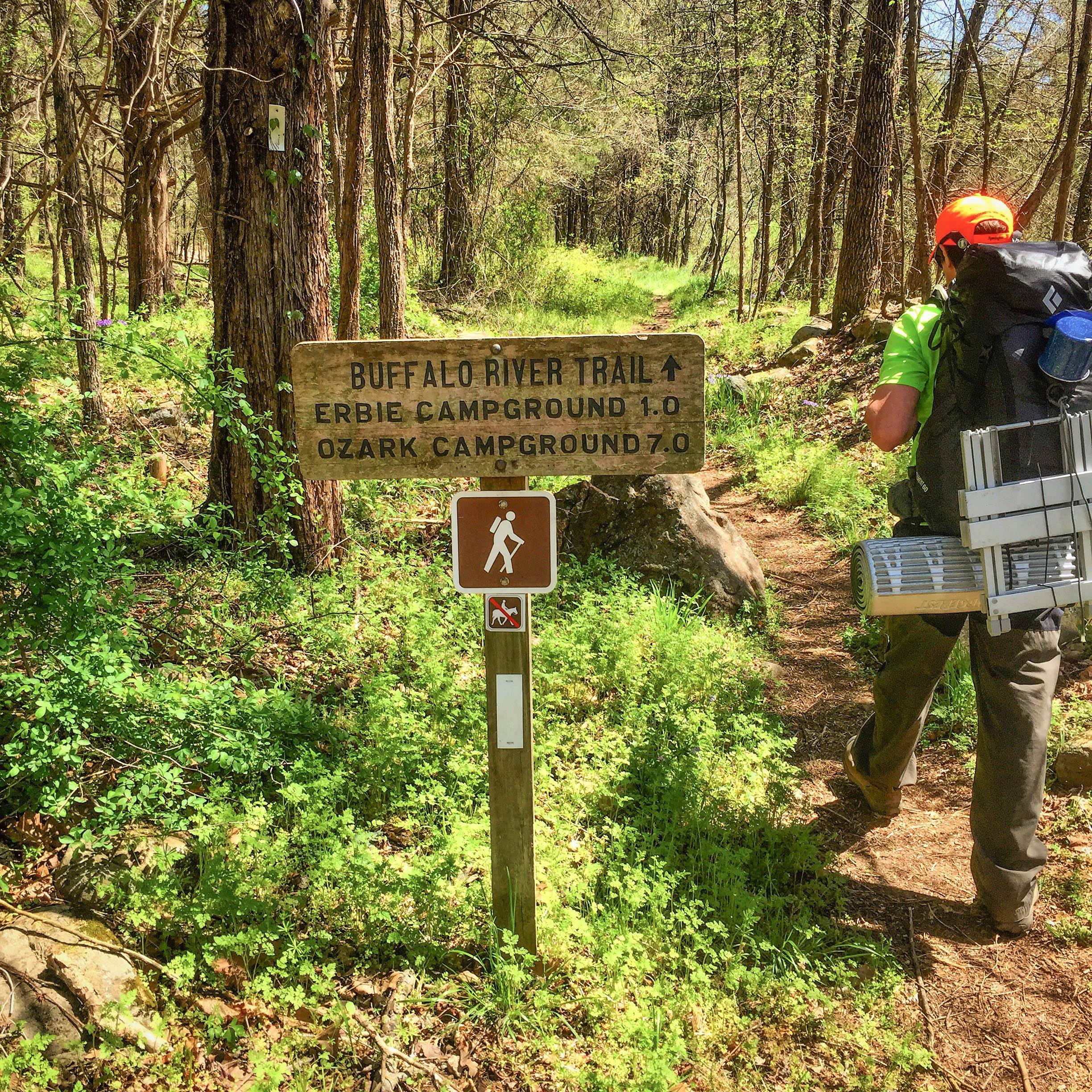 The trail into Erbie Campground makes for an easier second day.