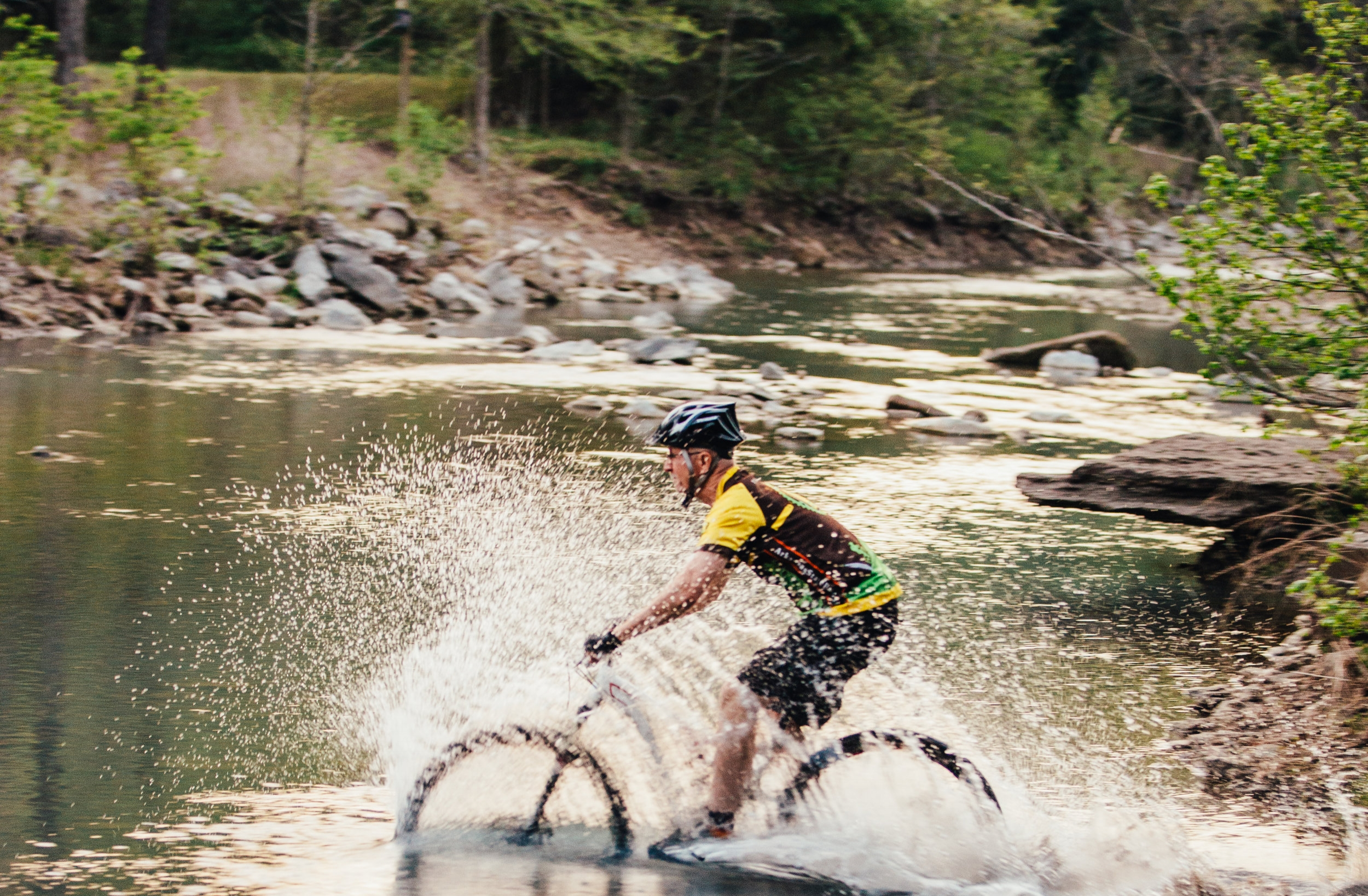 Devil's Den Assistant Superintendent, Tim Scott was instrumental in bringing mountain biking into the Arkansas State Parks, and he still regularly rides that first trail, the Fossil Flats Trail at Devil's Den State Park.