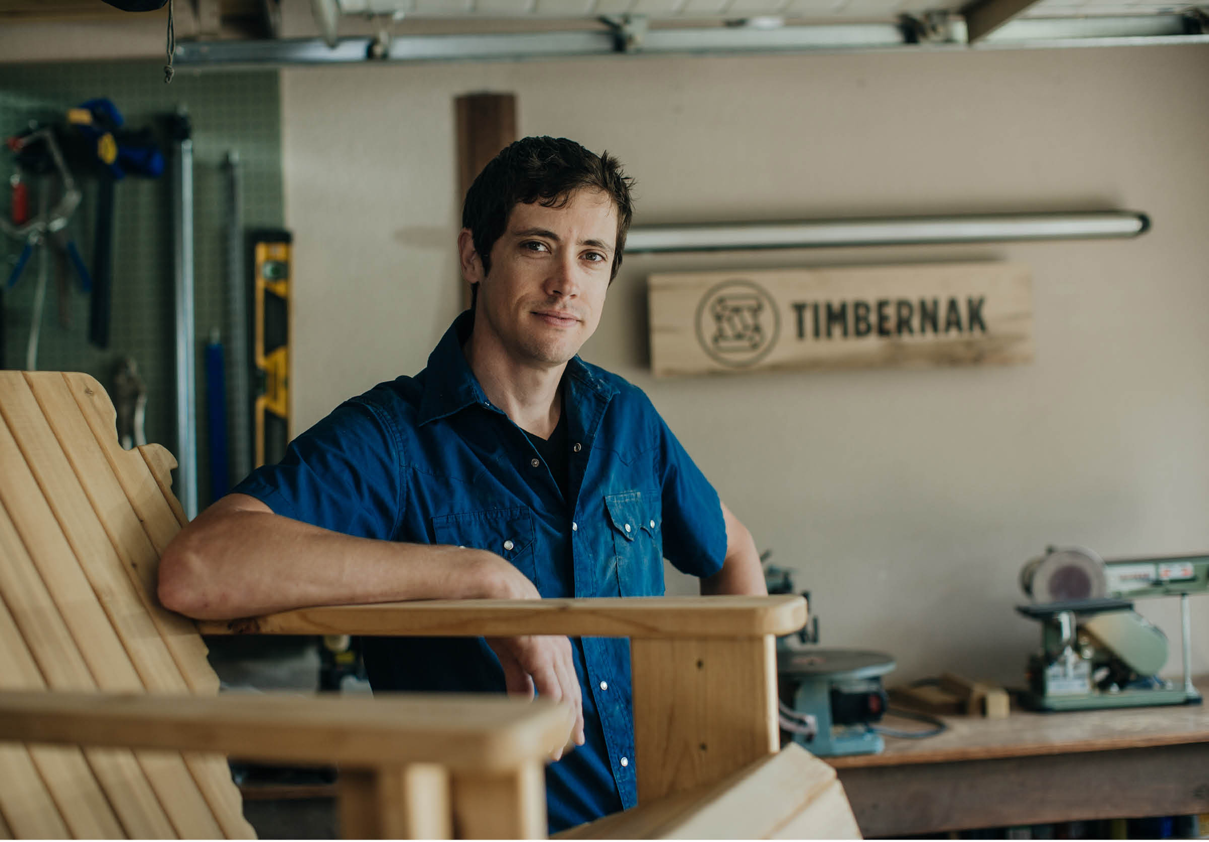 Timbernak carpenter Scott Schroen