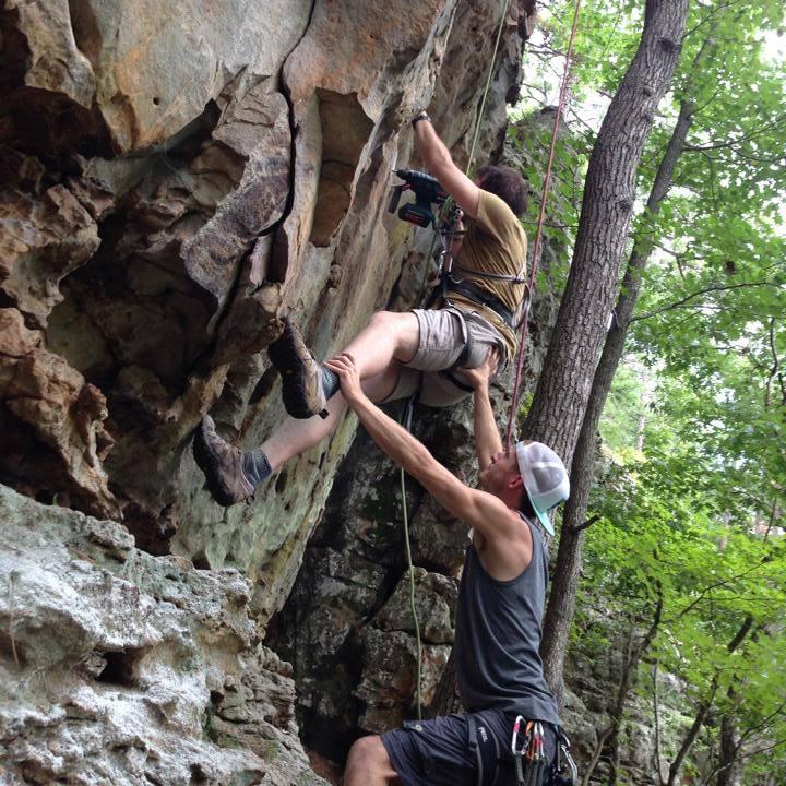 Climbing Jamestown Crag