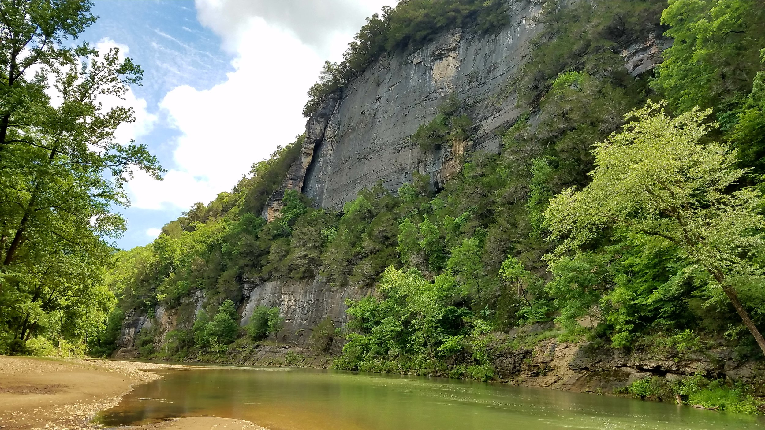 This towering bluff is only one of the beautiful rock formations visitors are treated to.