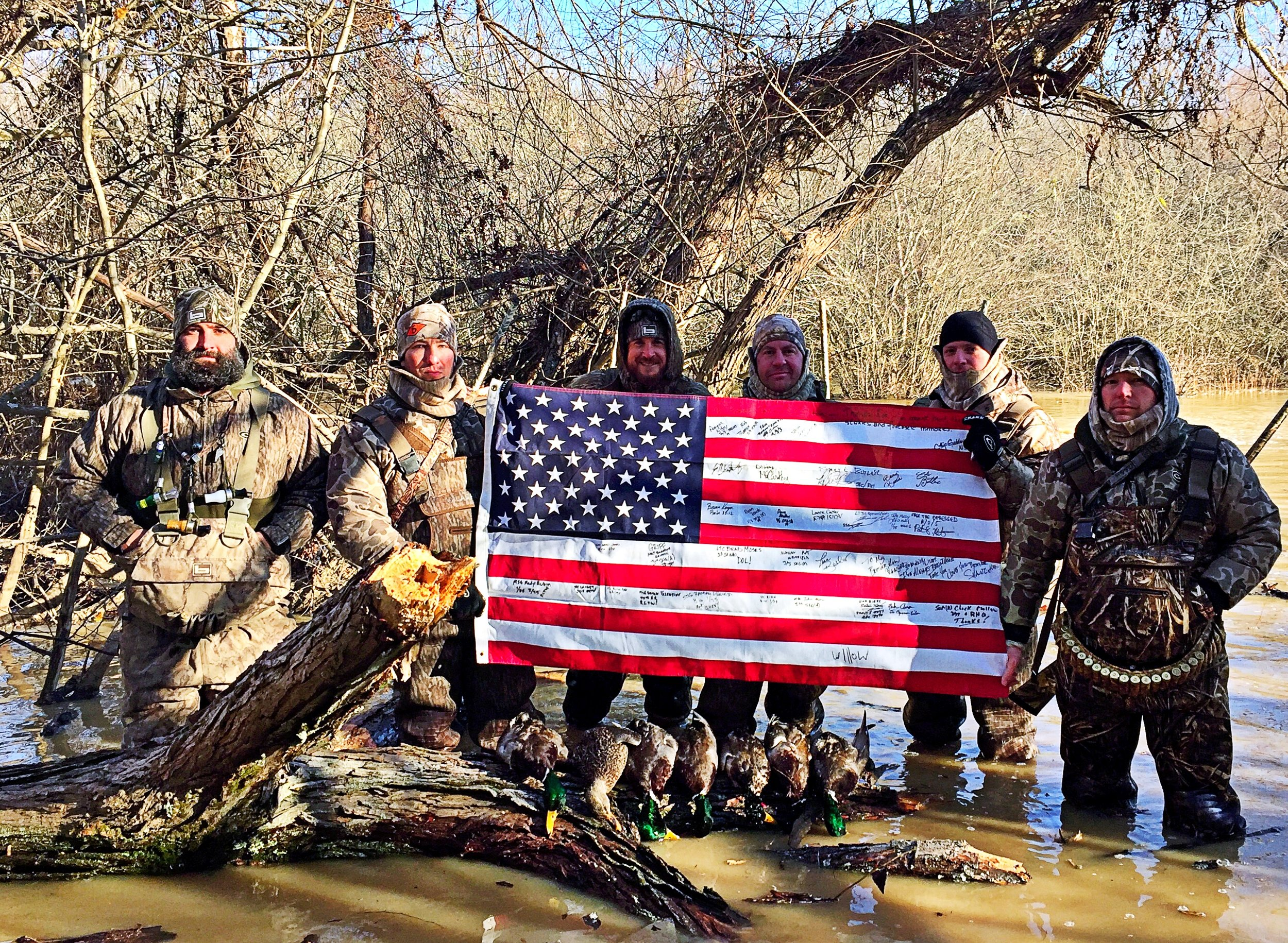 Darby's Warriors lets active duty servicemen bond over a weekend of duck hunting or trout fishing.