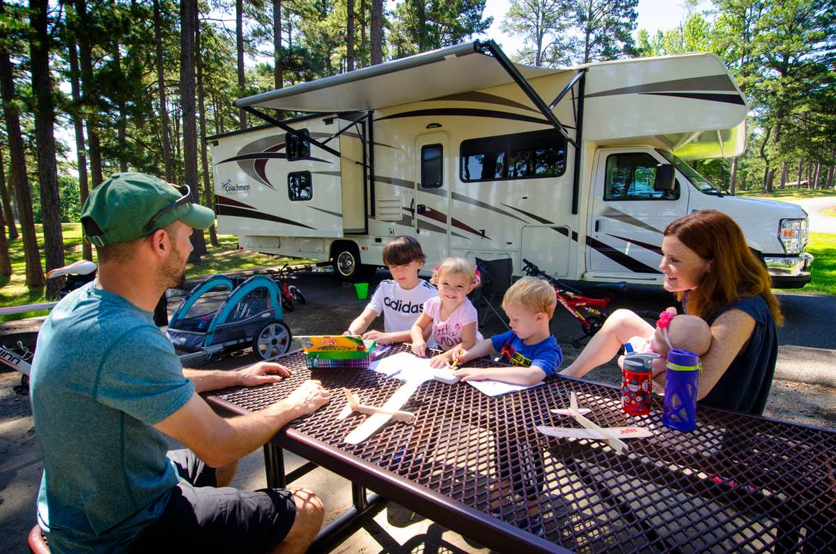 "Consider making the campsite a ""phone-free zone"" with activities that encourage personal interaction."