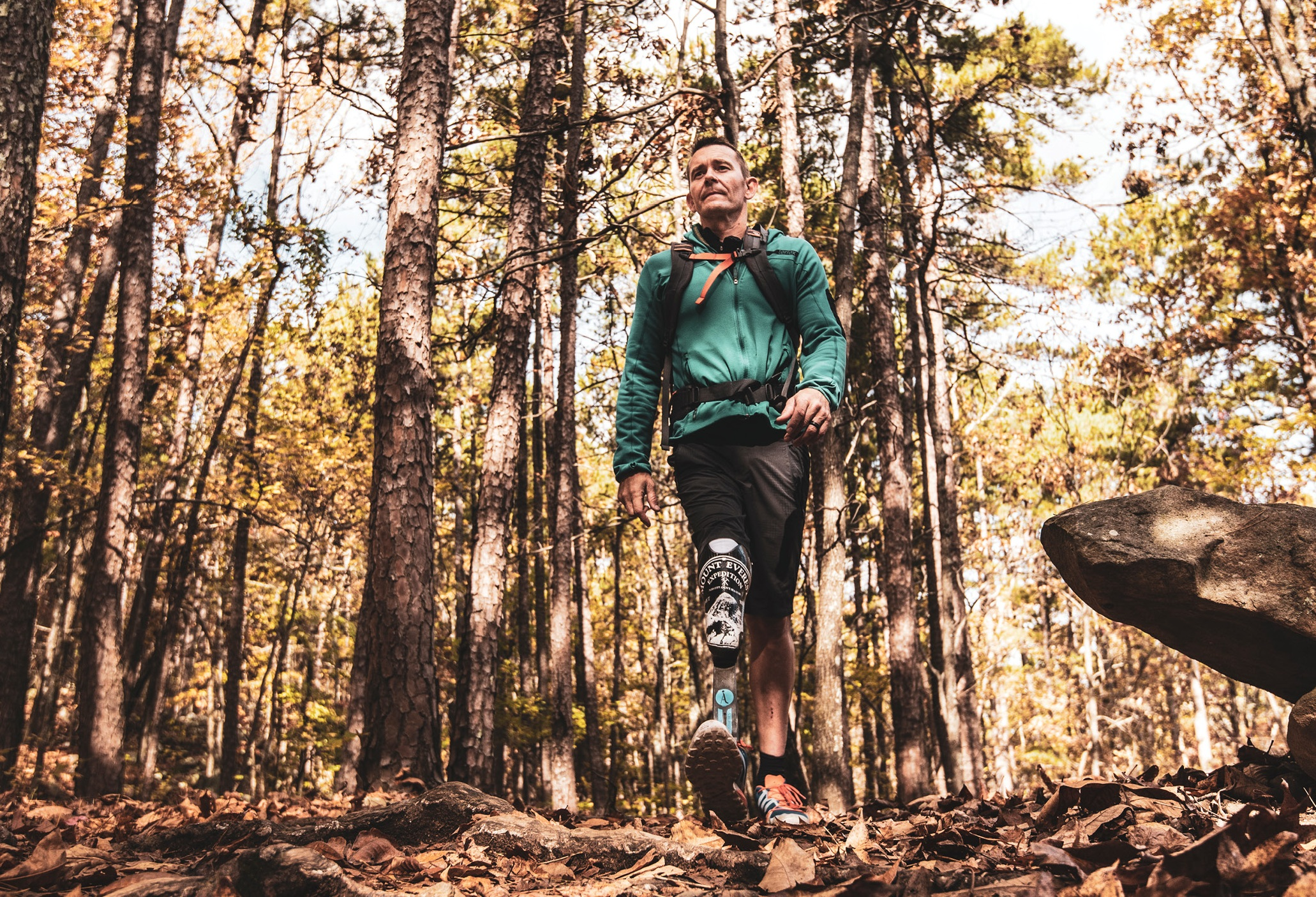 "Glasbrenner on a recent trail run: ""I'd rather be different than average."" - Photo by Drew Harris"