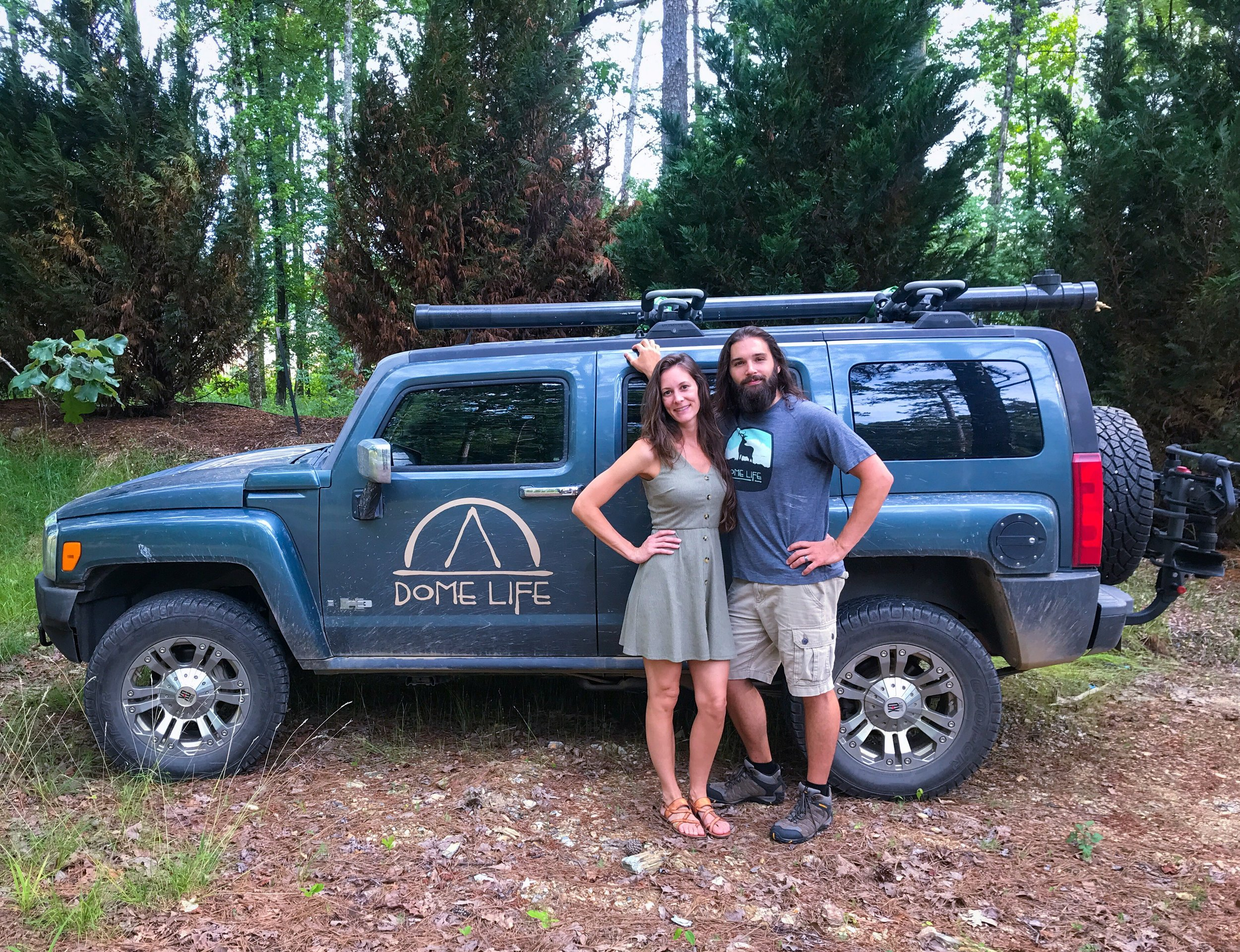 Cody and Kellie Oden load up for another weekend adventure. The couple launched Dome Life in September, a portion of proceeds going to help fund cleanups.