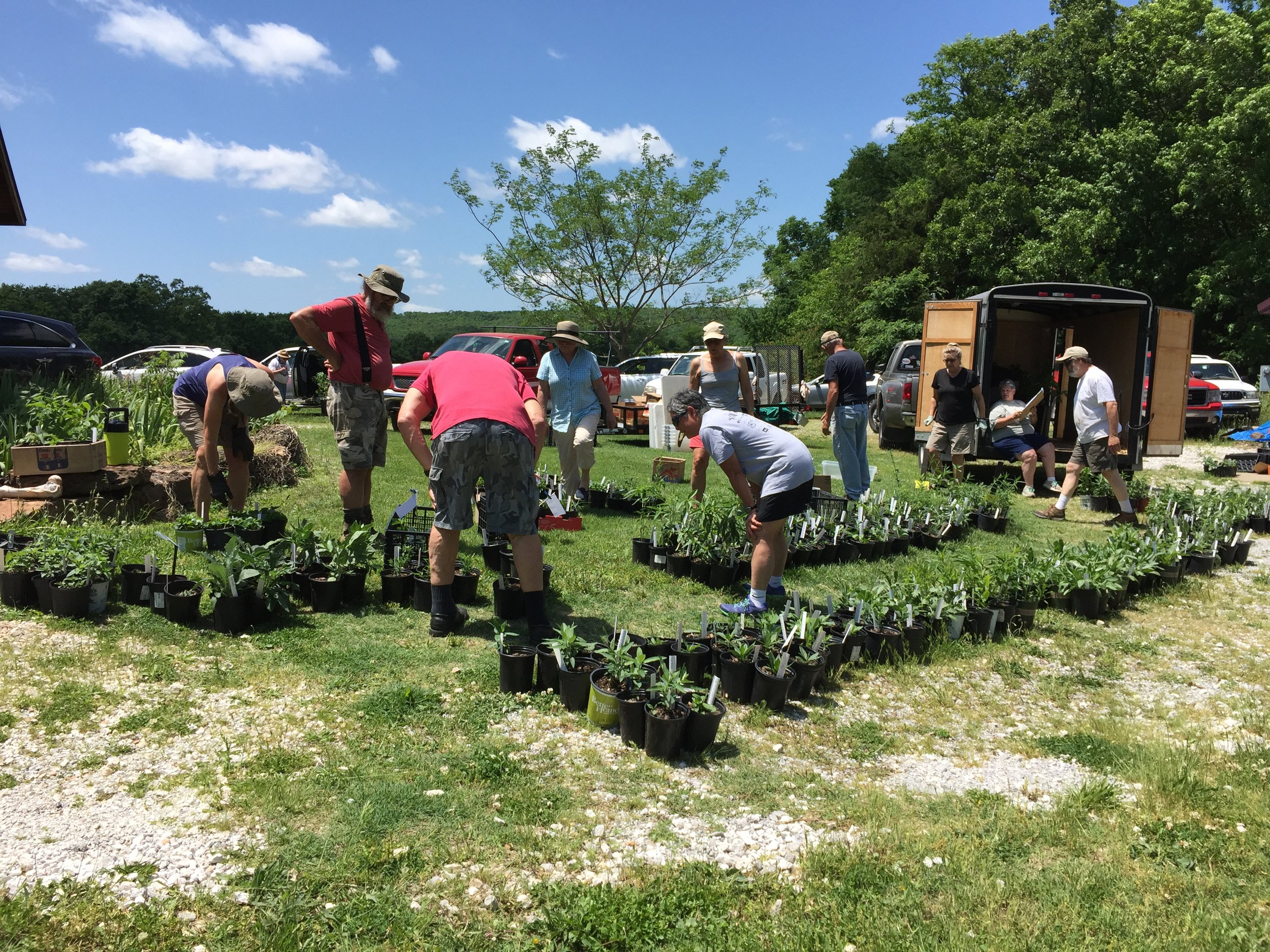 Arkansas Master Naturalists members prepare plant stock for its native plant sale. The group volunteers to clean and preserve wild spaces in Arkansas.  -Photos courtesy of Arkansas Master Naturalists