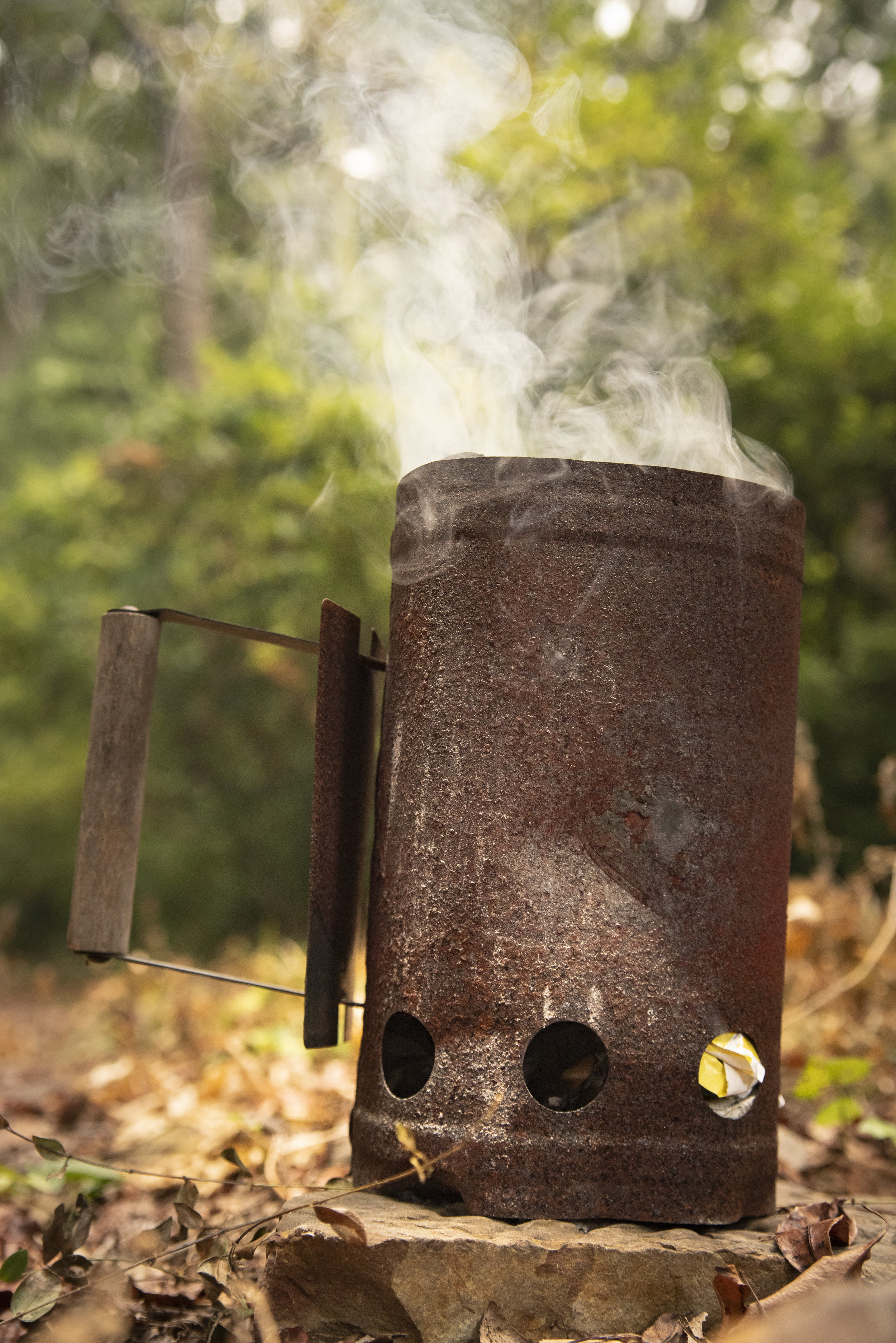 A charcoal chimney starter is a must-have accessory.
