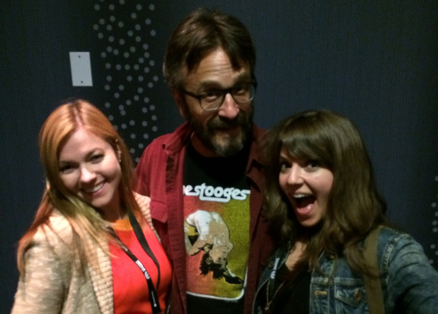 My friend Jamie Aderski, Marc Maron, and me at the LA Podcast Festival