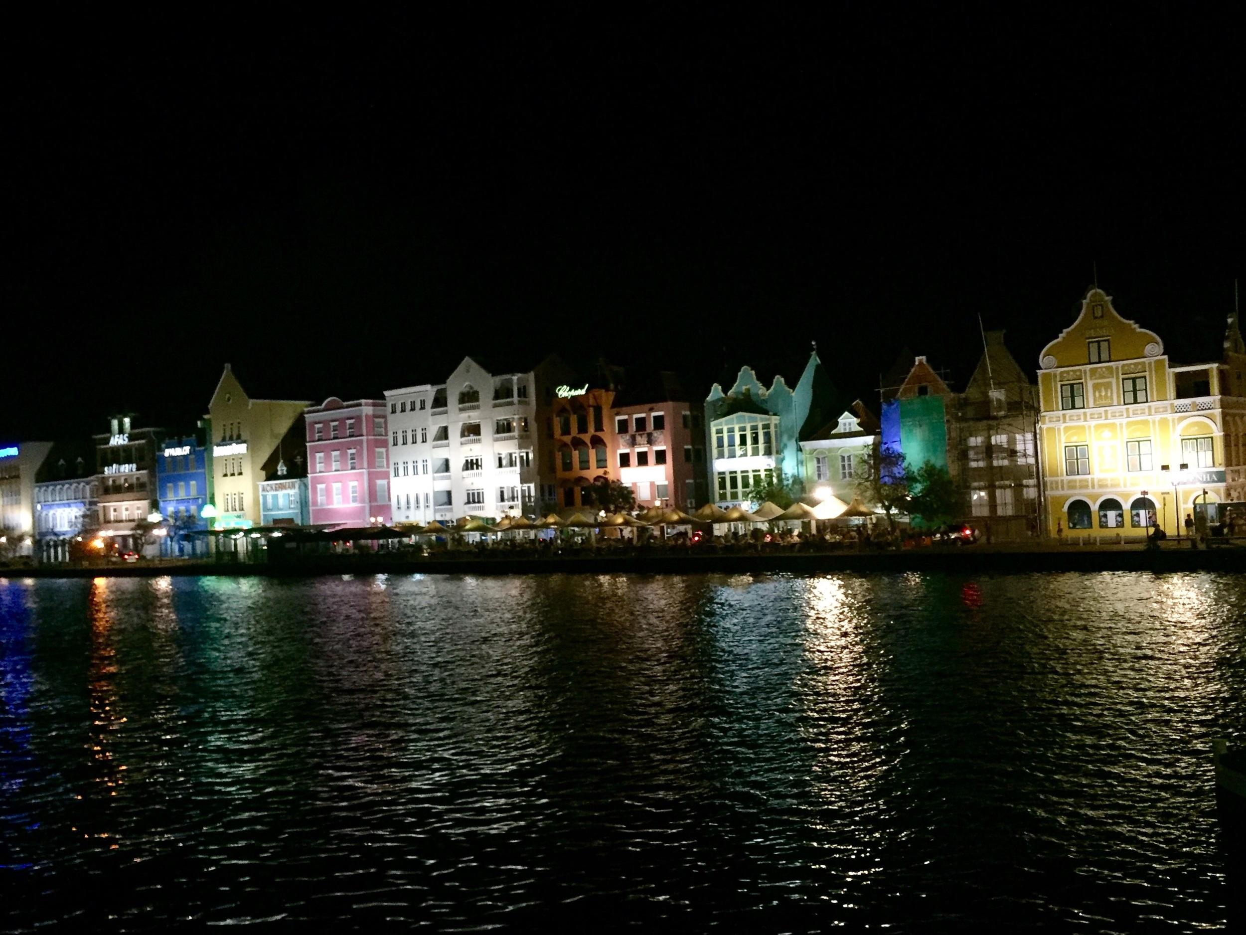 Willemstad, Curaçao at night