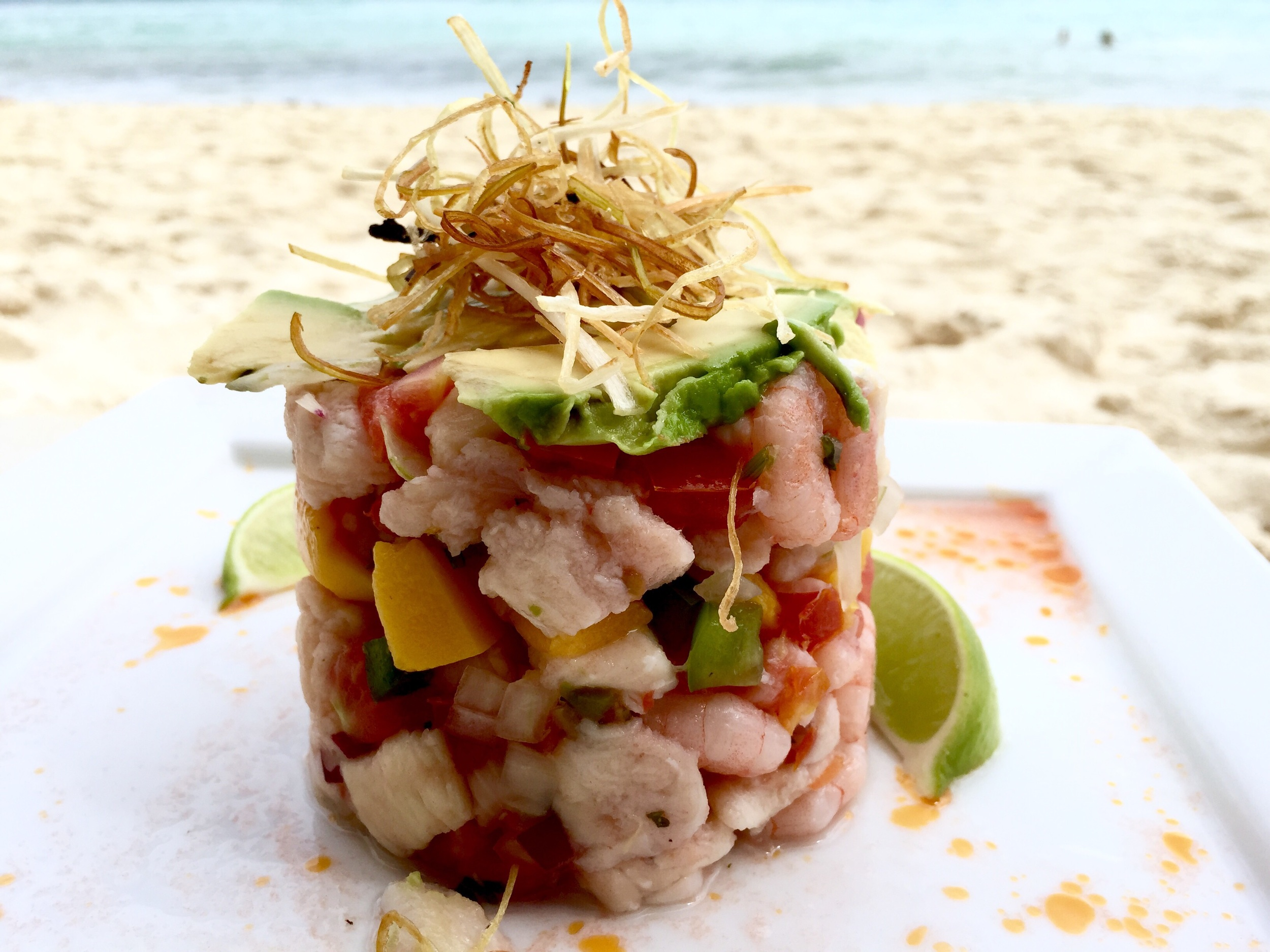 Ceviche on the beach