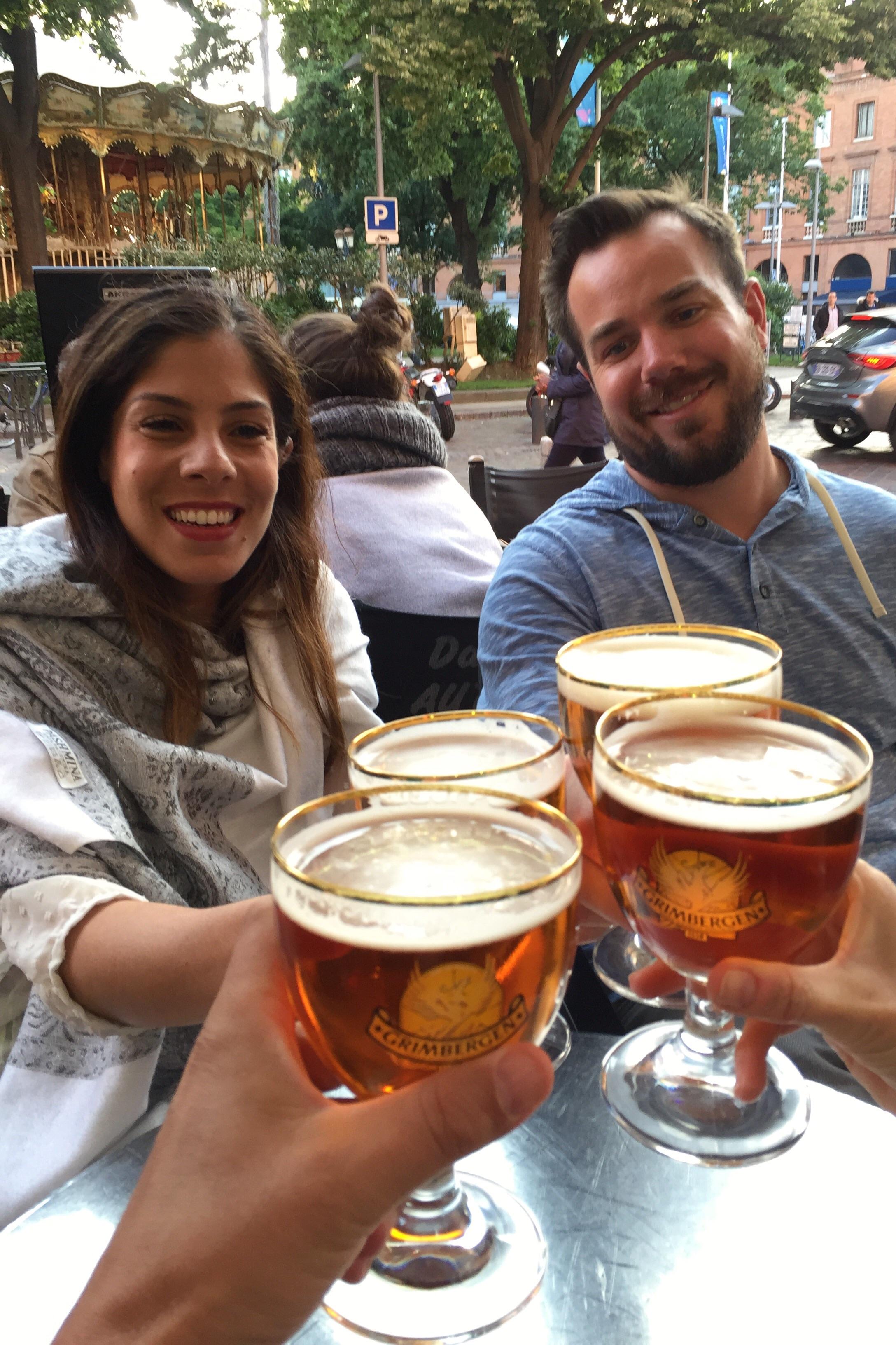 Toulouse honeymooners...Chris & Alia. Congrats!
