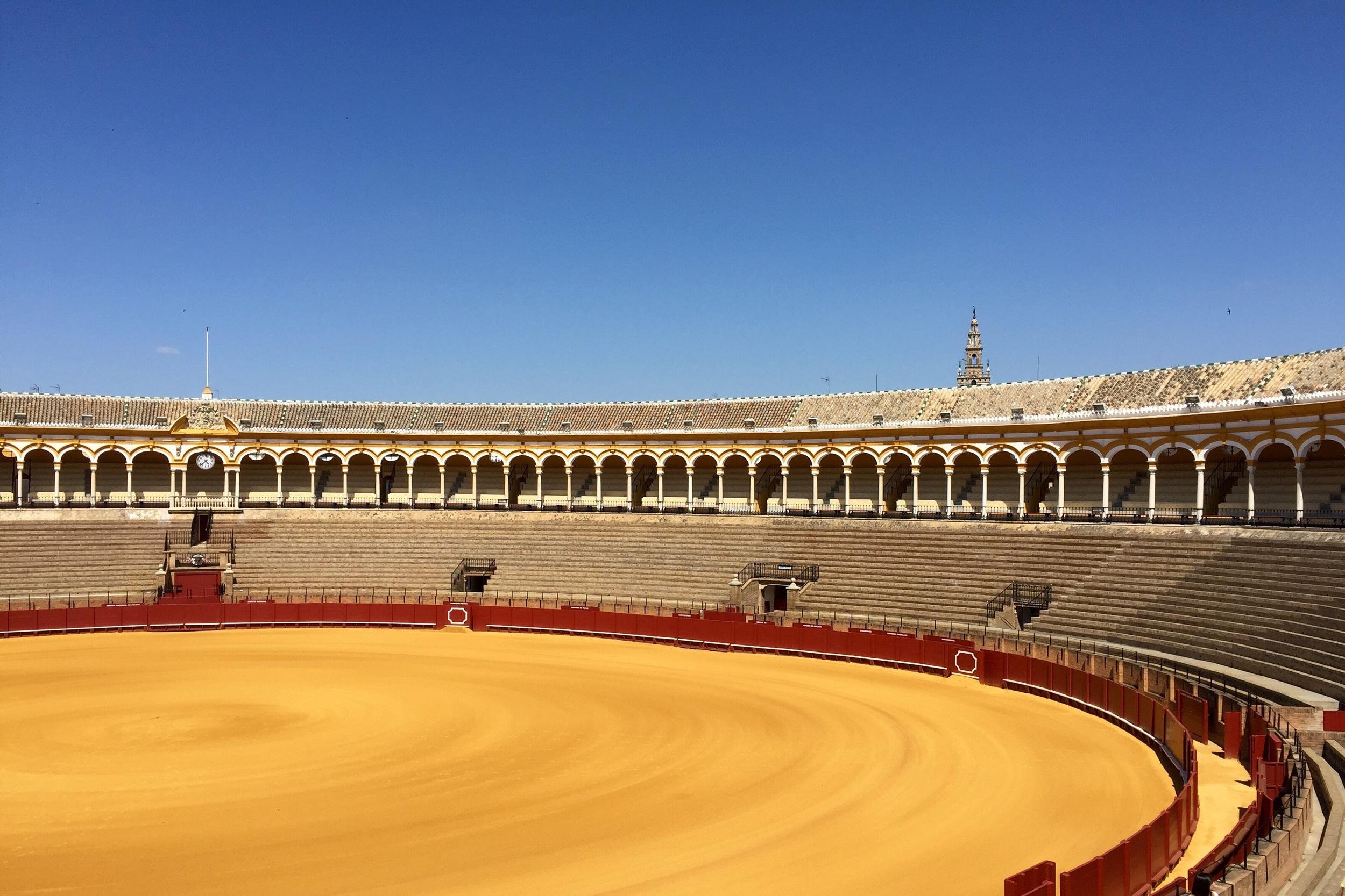 Bull ring in Sevilla