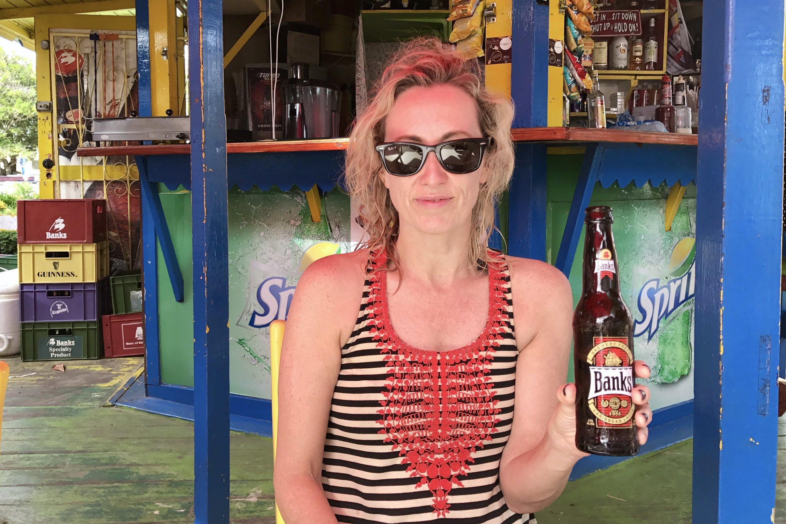 Beach bar at Rockley Beach