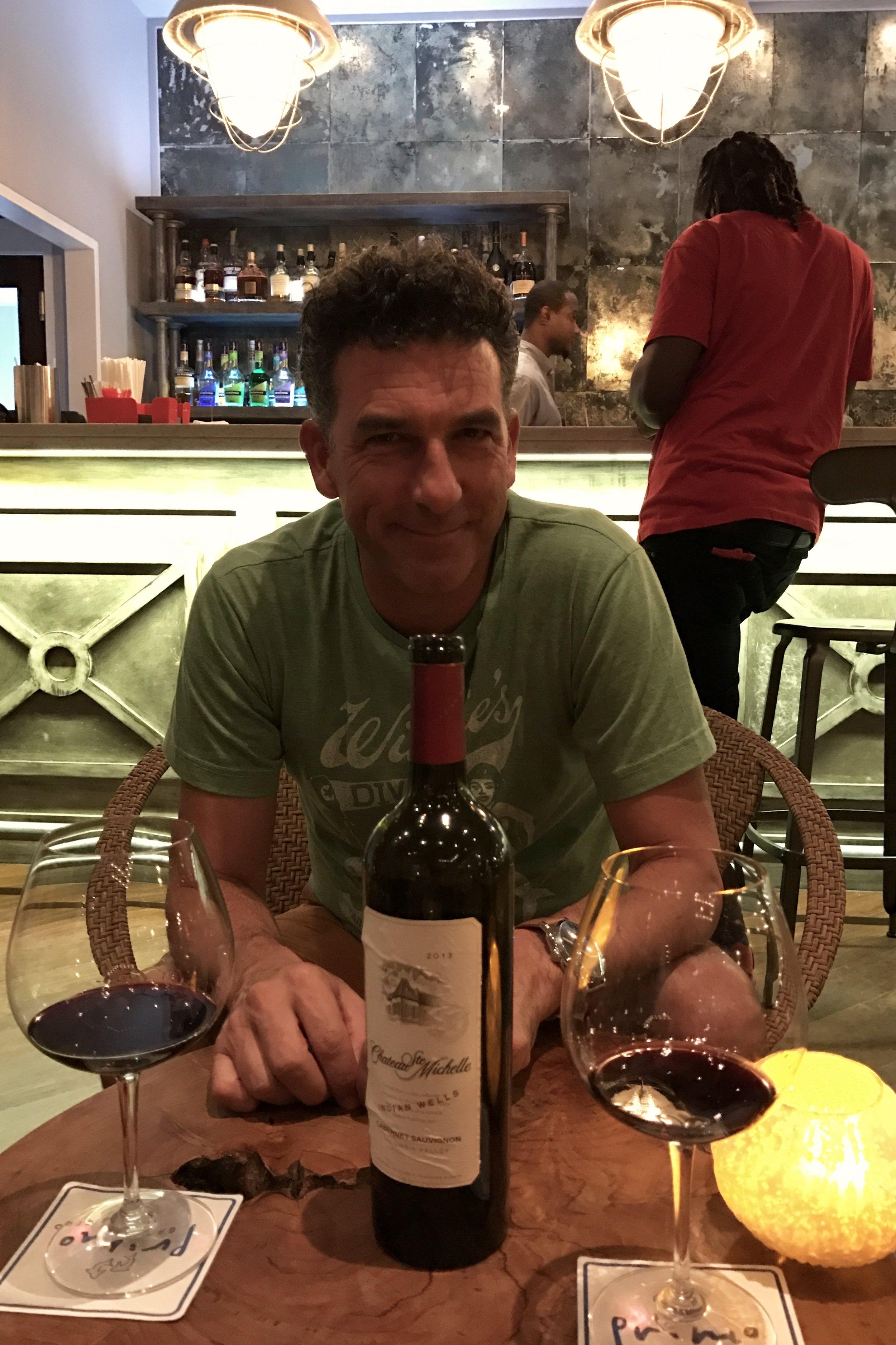 Dinner at Primos, fantastic wine list