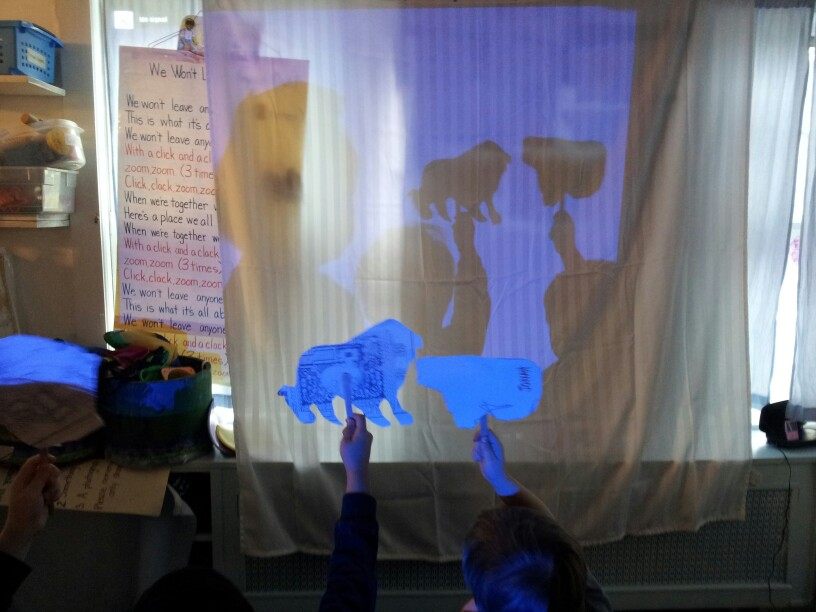 Make your own shadow puppet!