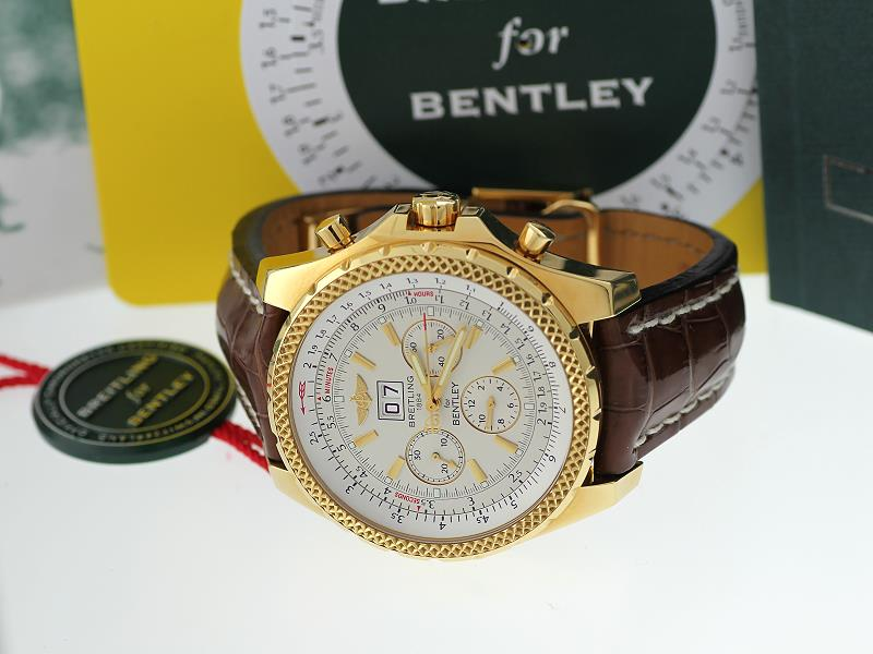 Breitling Bentley 18K Yellow Gold Watch