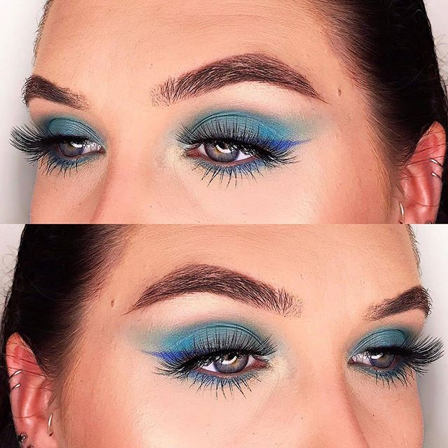 Some #BlueEye #SummerMakeup #CreativeEye #MakeupLook inspiration by #OnlineMakeupAcademy #MakeupArtist @madisonrowebeauty. Giving us beach wave ocean blue dreams! 💙🏖 Repost @madisonrowebeauty  Details- Eyeshadow: @not phebrushes dare to create 39A palette, @bhcosmetics take me back to brazil palette Lashes: @eylureofficial luxe lashes in opulent Brows: @anastasiabeverlyhills dip brow pomade in ebony