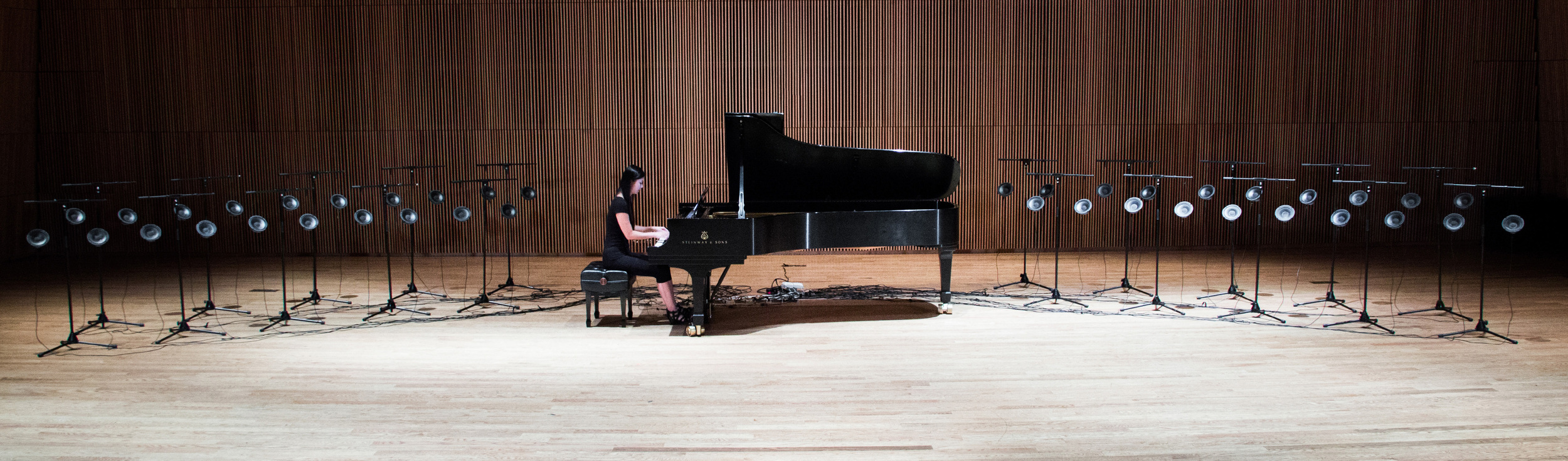"""LM artist Vicky Chow performing Tristan Perich's """" Surface Image """""""