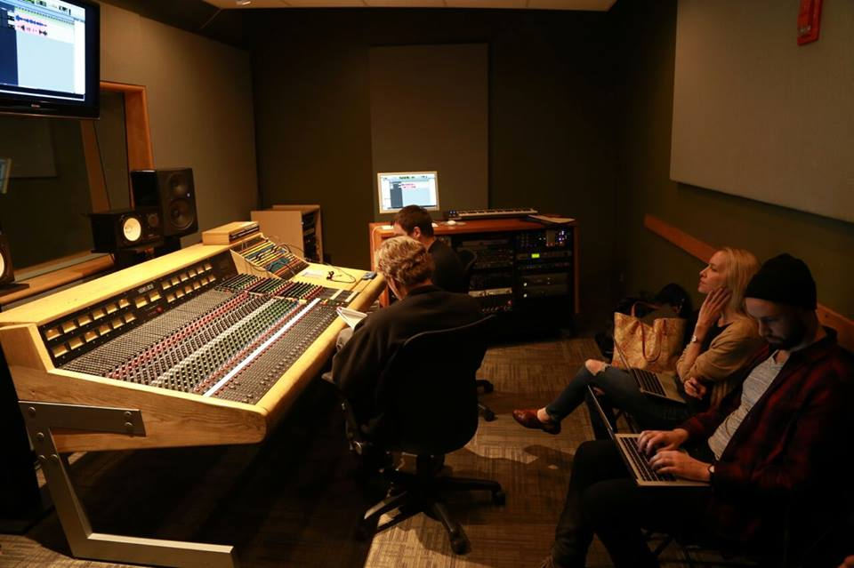 In the McNally Smith studio with Liquid Music Team and producer Don Lee at the board