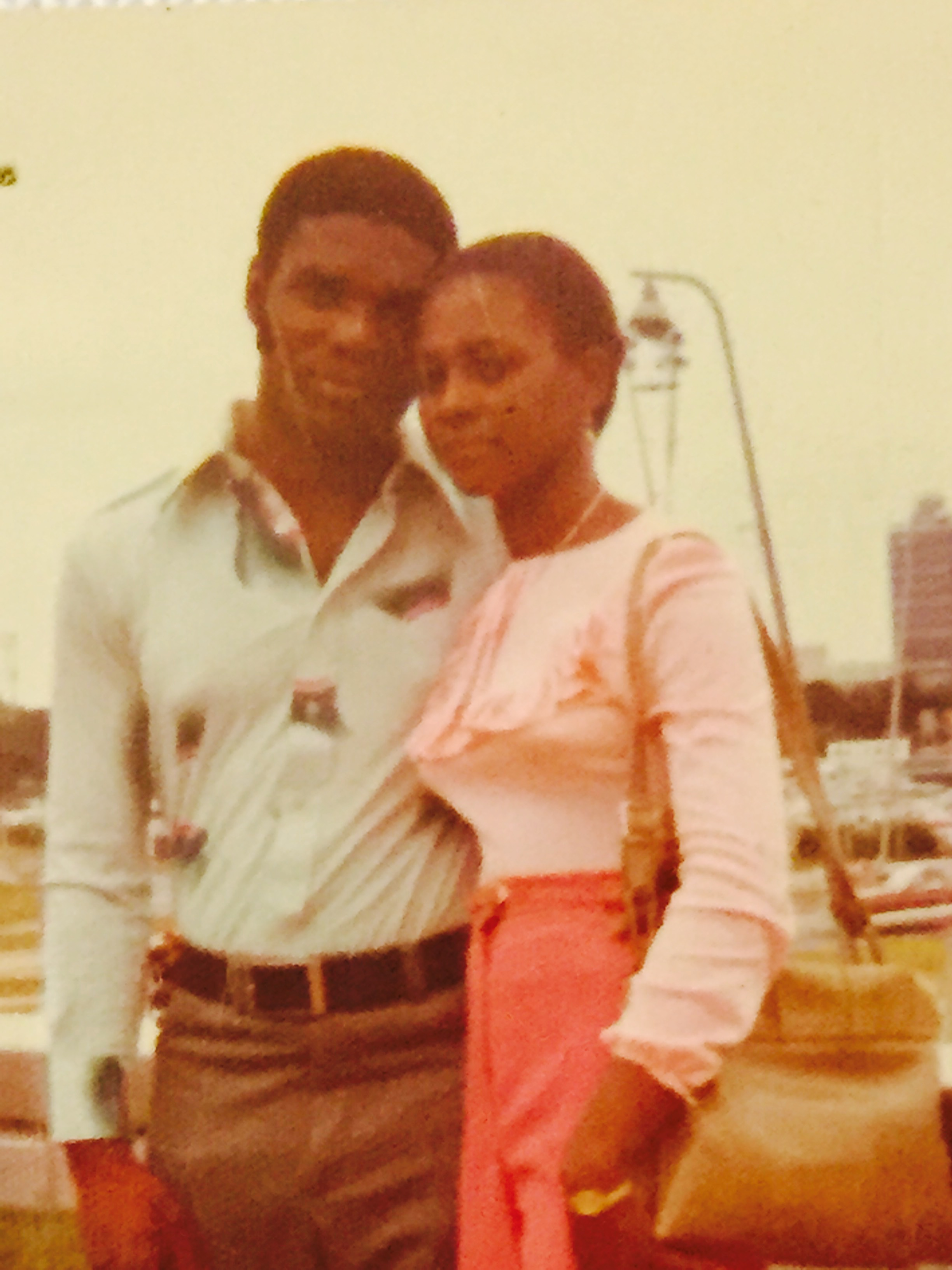 Nathalie's mom and dad in the 70s