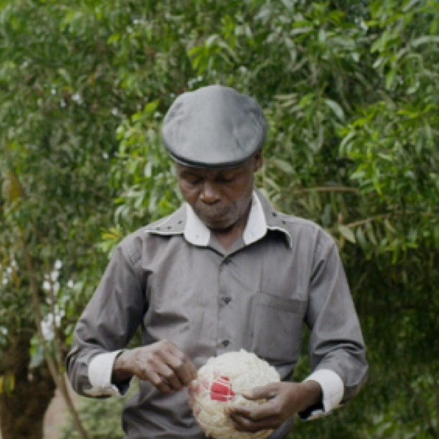 A scene we shot in Congo of this ball maker is being featured by the New York Times Op-Docs today.  #nytopdocs