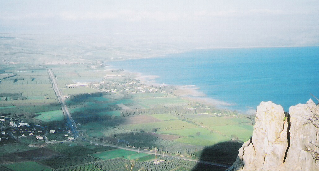 Arial view of the sea of Galilee