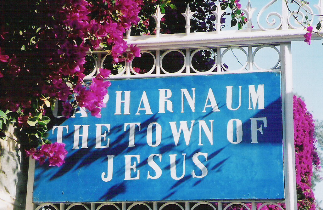 Capharnaum the town of Jesus Sign