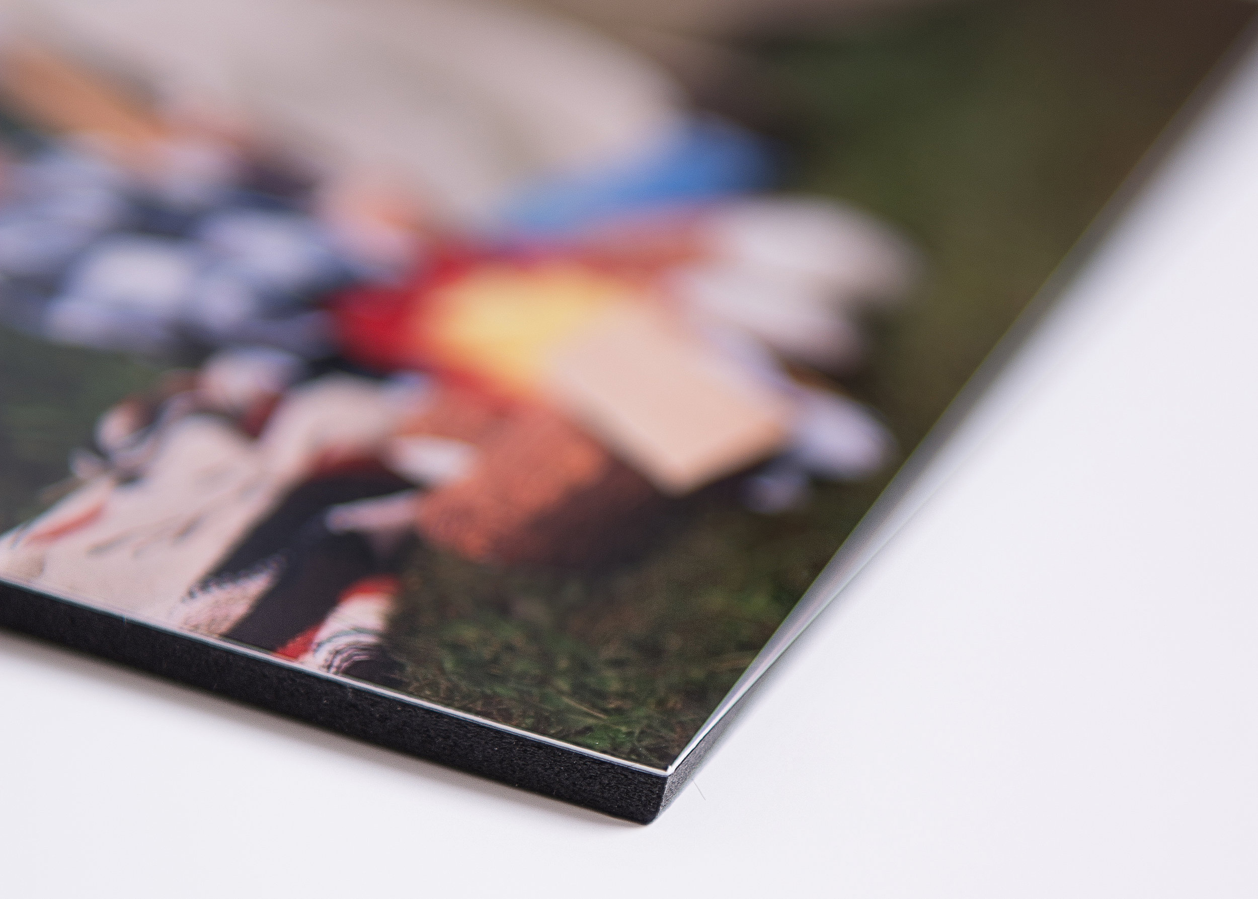 Metallic Paper Print on Black Matboard