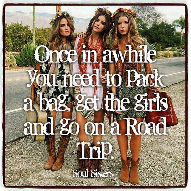 So true! Bachelorette party road trip, anyone?  #soulsisters #bestfriends #bridesmaid #bridetobe #fiance #futuremrs #bacheloretteparty #bachelorette #roadtrip #girlstrip #takemetothebeach #vacation #vacationmode #teambride #gettingmarried #engaged #travel #wanderlust #vamos #girlfriends #bestfriend #letsgo  Repost-https://www.facebook.com/Soul-Sisters-292563154227189/
