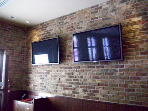 Screens are installed so that wiring is hidden and function is a key component.