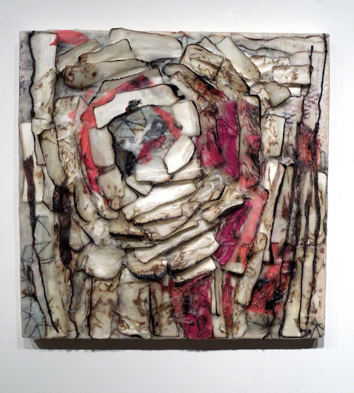 Nice mention of my work (Grief Diary 2, paper, fiber and encaustic, 2015) in Ann Landi's Vasari21 June 12, 2017 e-newsletter