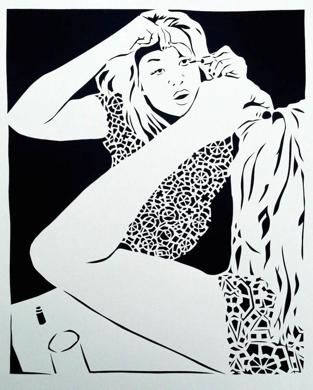 Let Me Put My Face On III by Lauren Iida