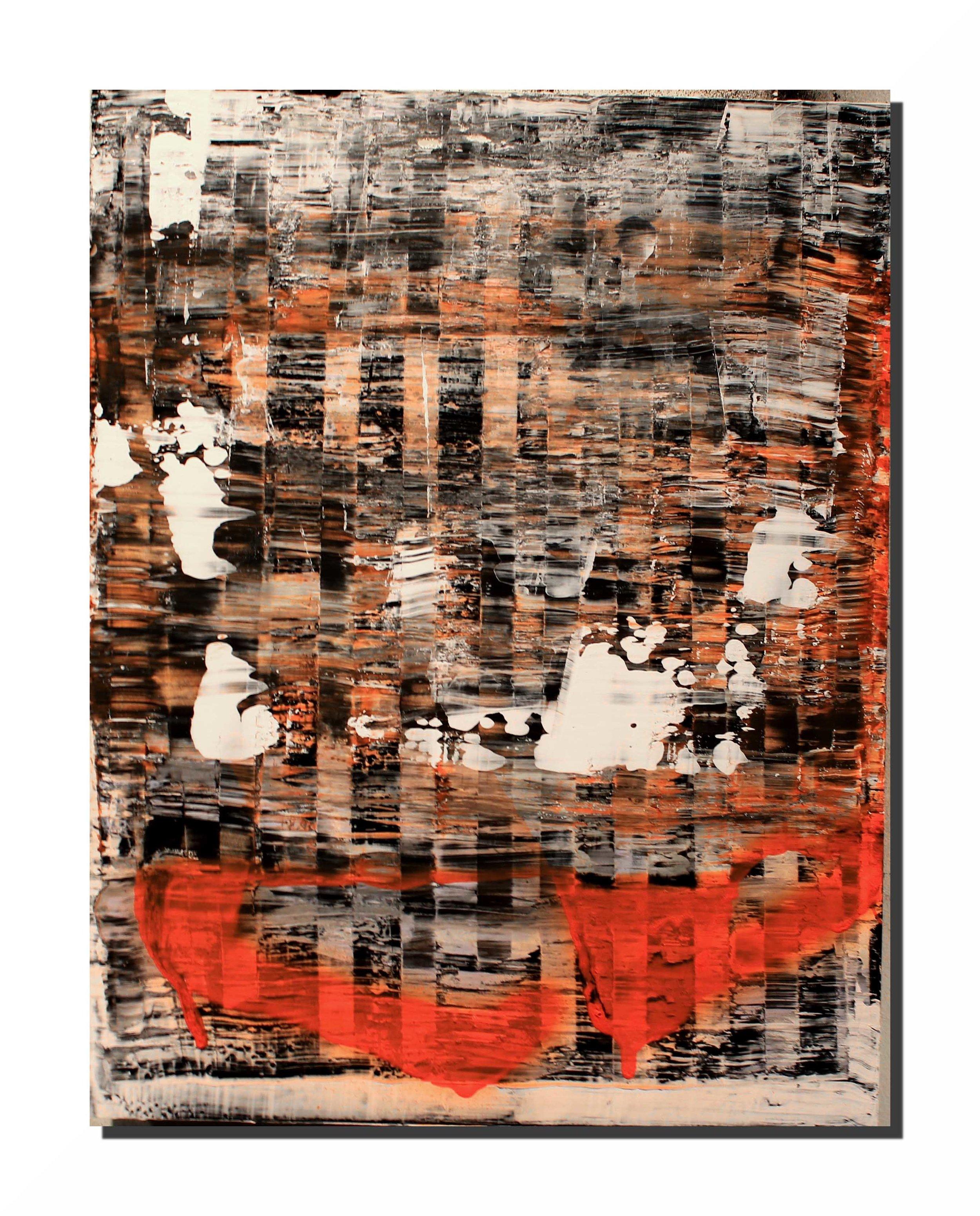 "James Sundquist,  Untitled,  mixed media, 14"" x 11"""