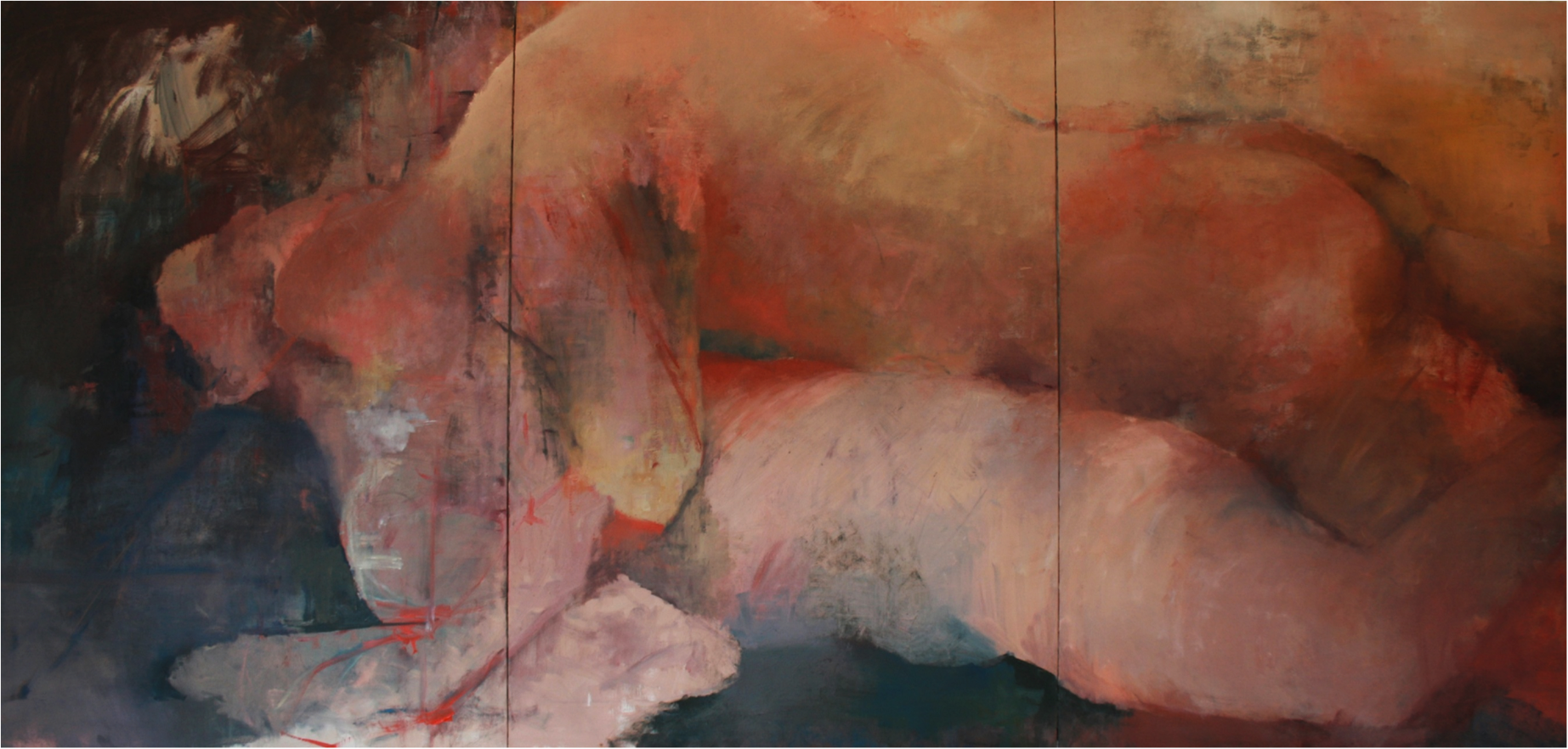 Devoured, Oil on Canvas, 7.5'x 3.5' .png