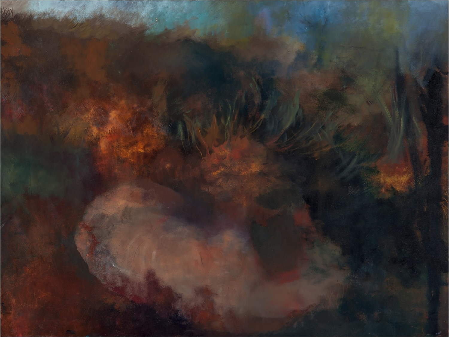 Silent Thorn #2, Oil on Canvas, 30''x 40''.png