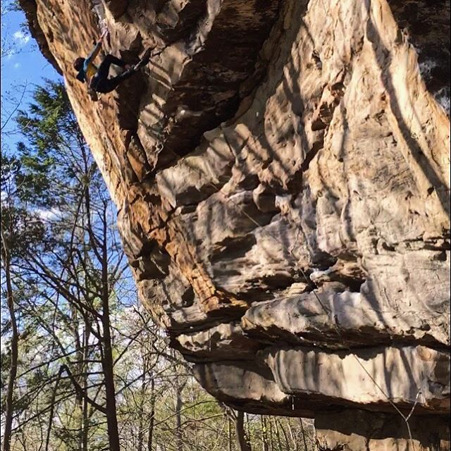 SENT THE PROJ.  Put down my first long term 12 project this weekend!! Pyscho Wrangler, 5.12a at Cotton Top NRG.  Here's me not sending, but I did get it earlier in the day. Feeling pretty proud and hella stoked. Time for some new projects 😁  #projects #stokedonprogress  #rocks #rockclimbing #newrivergorge #nrg #pyschowrangler #cottontop #theresortgoeswhereyougo