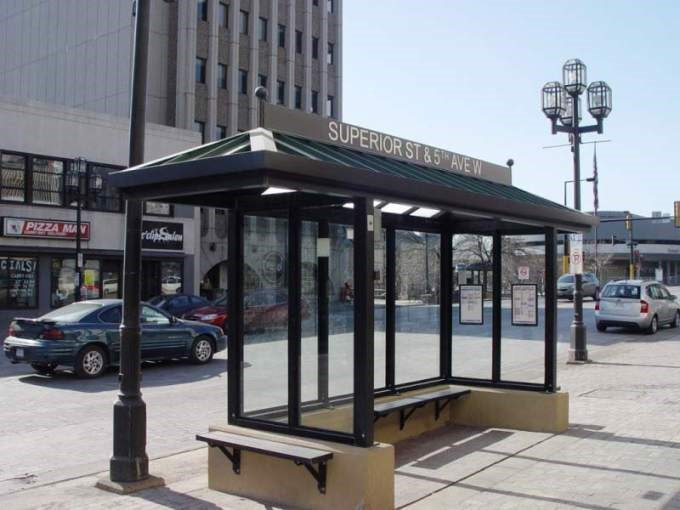 "An inspiration for ""Option 2"" – Bus shelter in Duluth, MN"