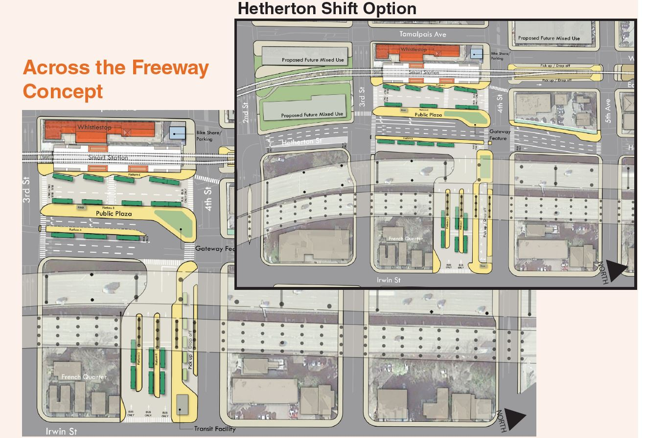 The Across the Freeway concept. Image by Golden Gate Transit.