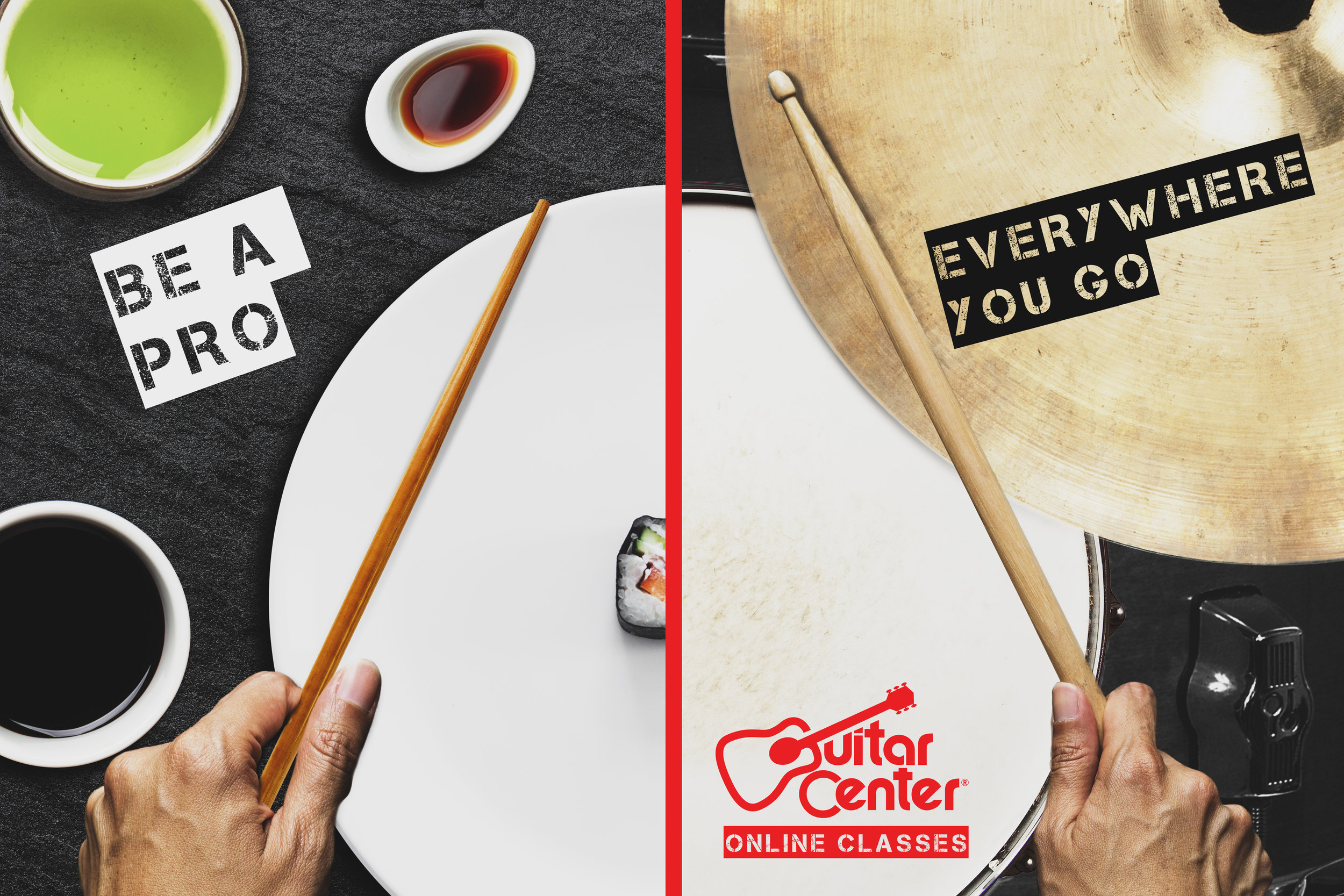 Personal Project- Guitar Center ad mock-up