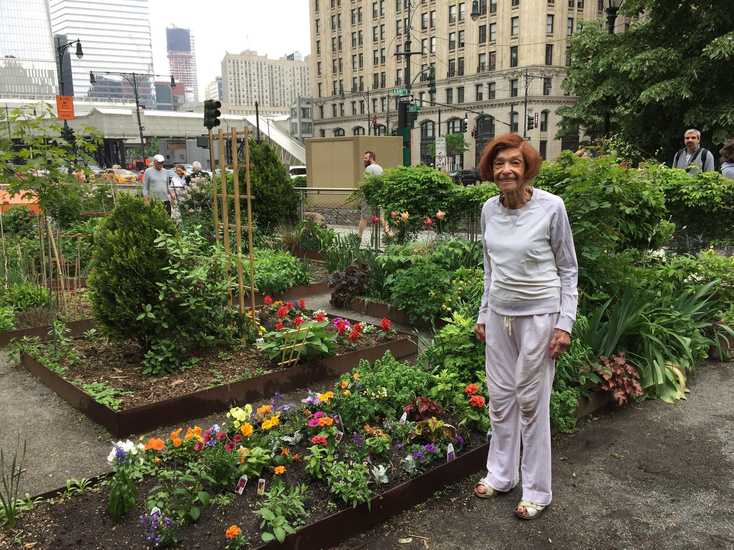 Shirley Feinberg Enjoying Her Beautiful Garden