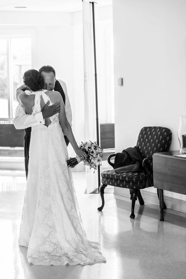 my dad and I on my wedding day - photo by Aaron Riddle Photography