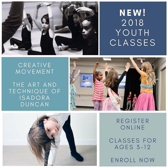 Young dancers welcome! Classes begin this month; join our fabulous youth teachers for creative fun! #dcdance #youthdance #creativemovement #isadoraduncan